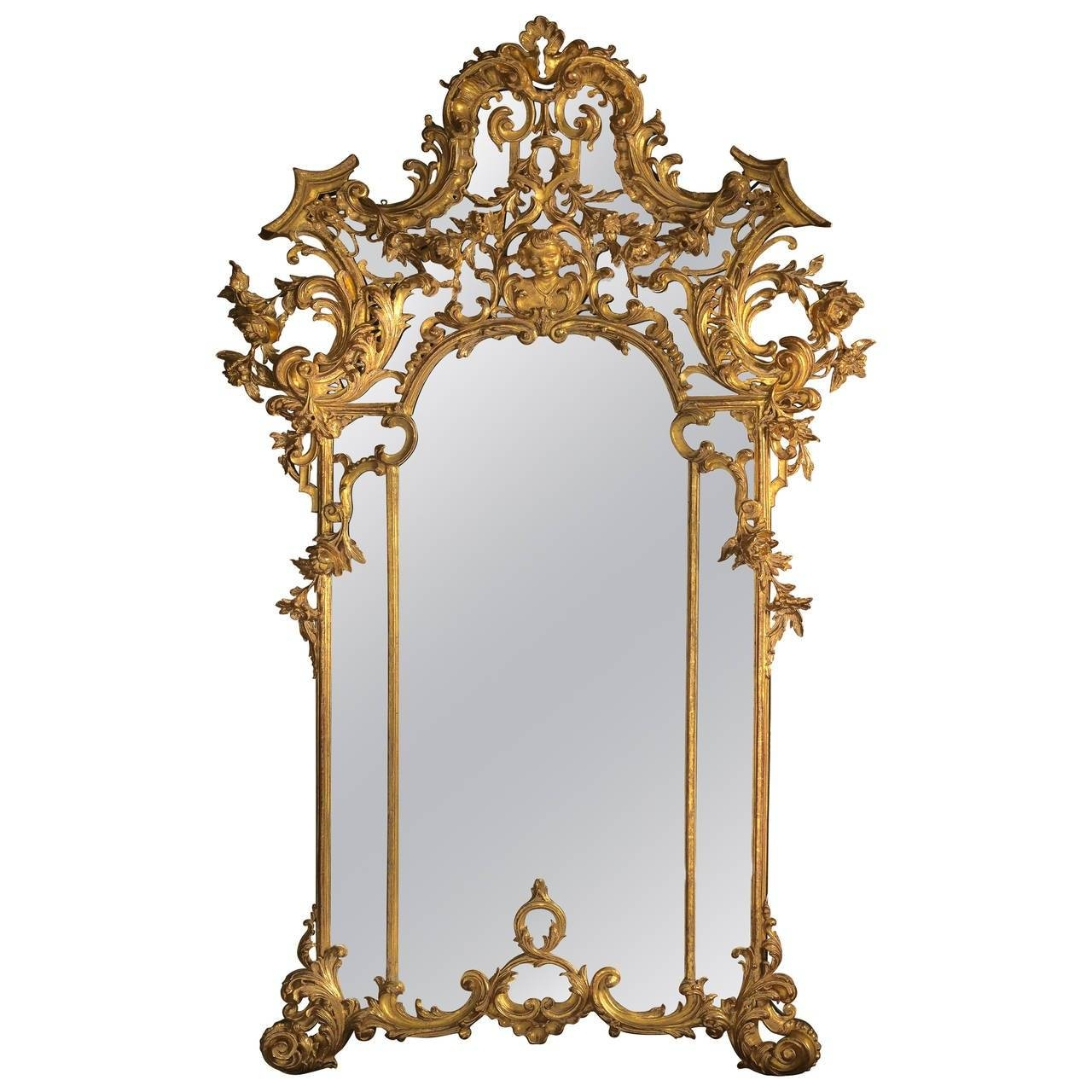 Rococo Style Giltwood Mirror For Sale At 1Stdibs with Rococo Style Mirrors (Image 10 of 15)