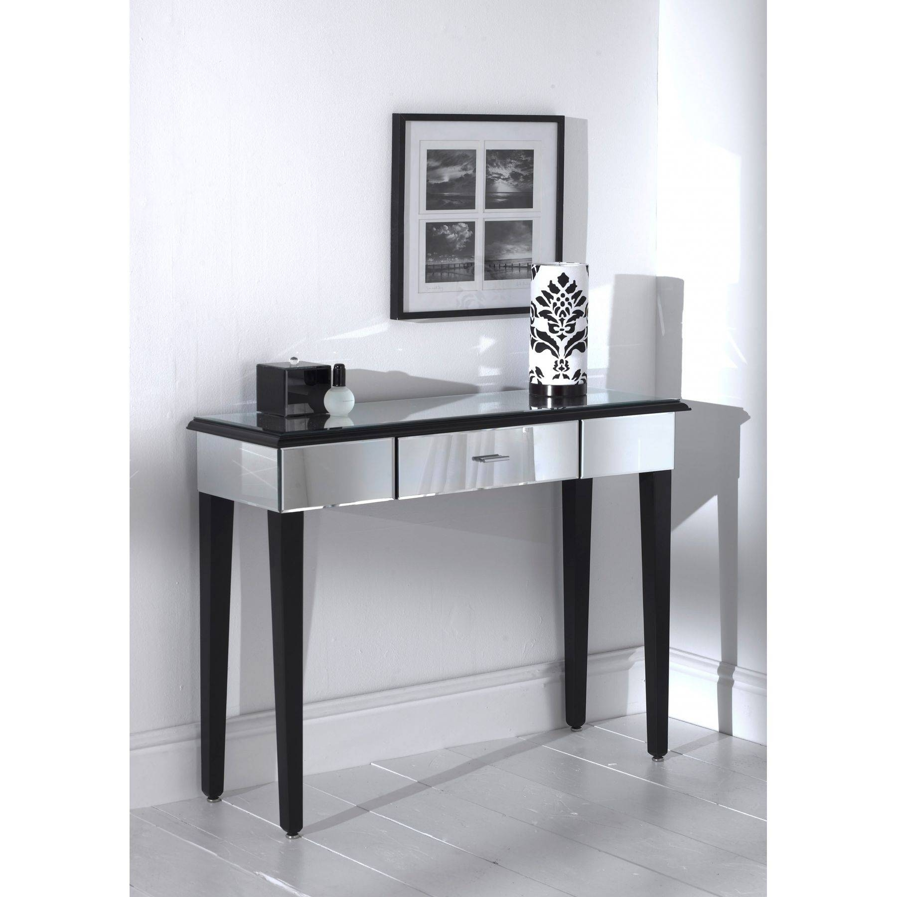 Romano Mirrored Console Table Set - French Furniture From regarding Mirrors Console Table (Image 14 of 15)