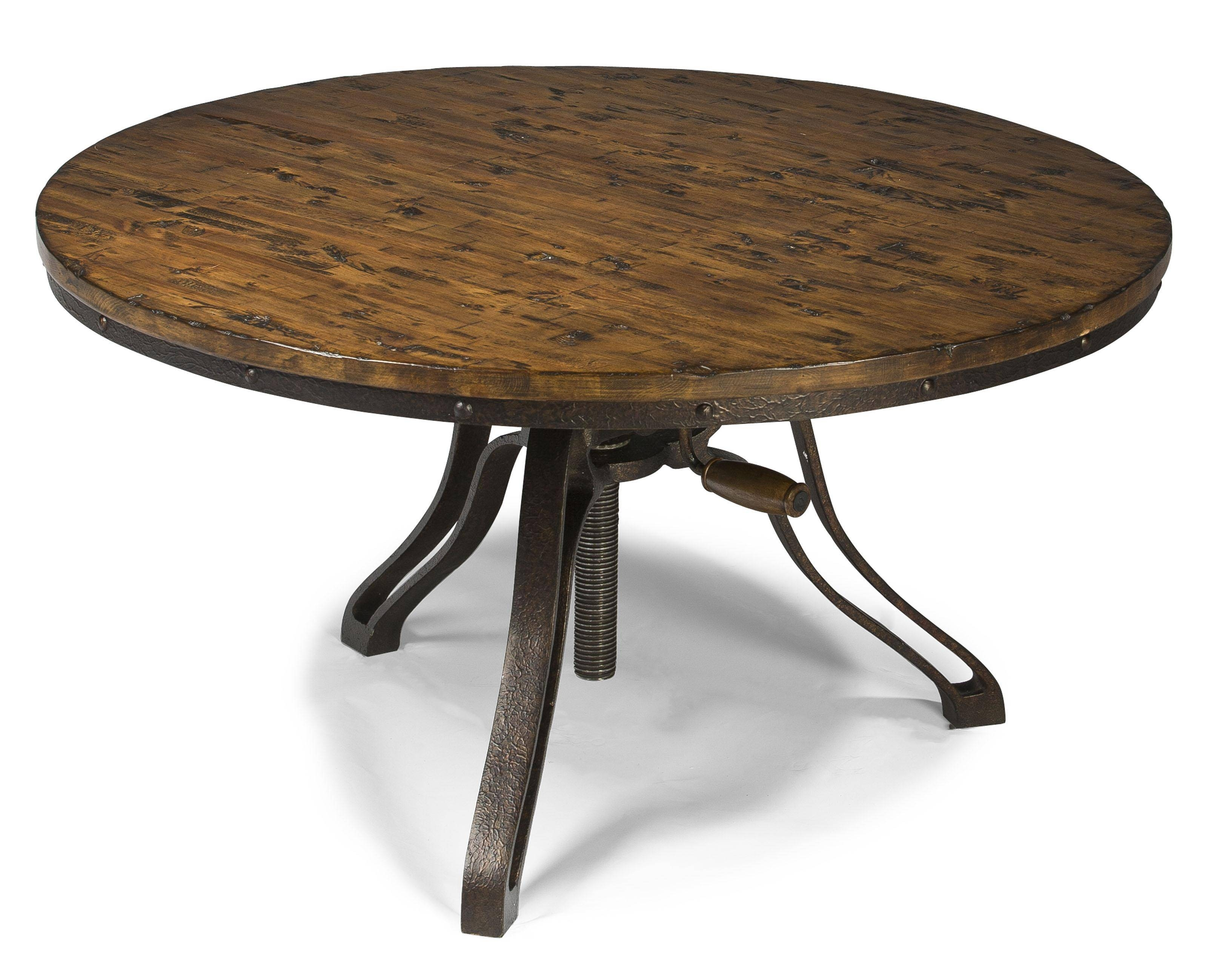 Rondell Industrial Style Round Cocktail Table With Adjustable with Industrial Round Coffee Tables (Image 13 of 15)