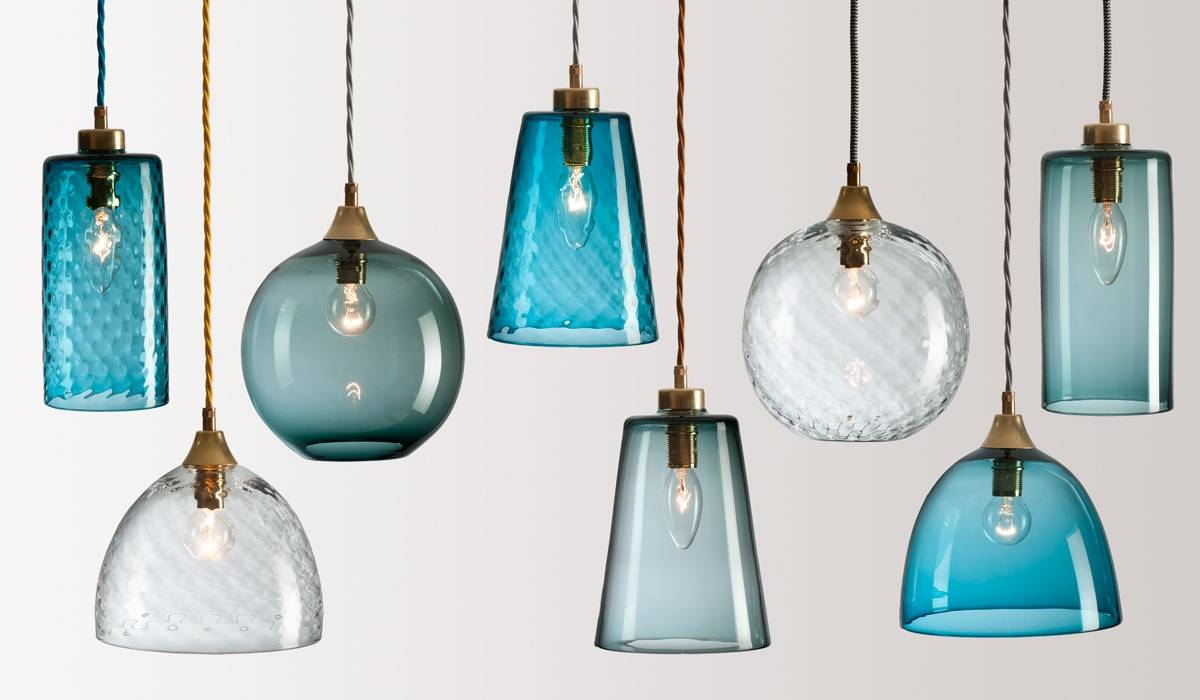 Rothschild & Bickers : Handblown Glass Lighting – Flodeau pertaining to Coloured Glass Lights (Image 15 of 15)
