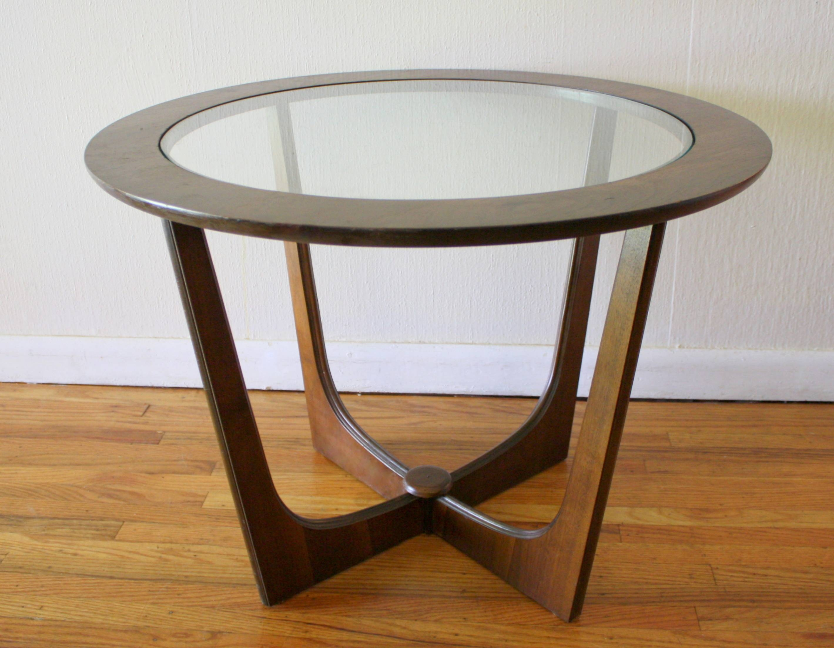 Round Coffee Table: Top Unique Round Wood And Glass Coffee Table Within  Round Wood And