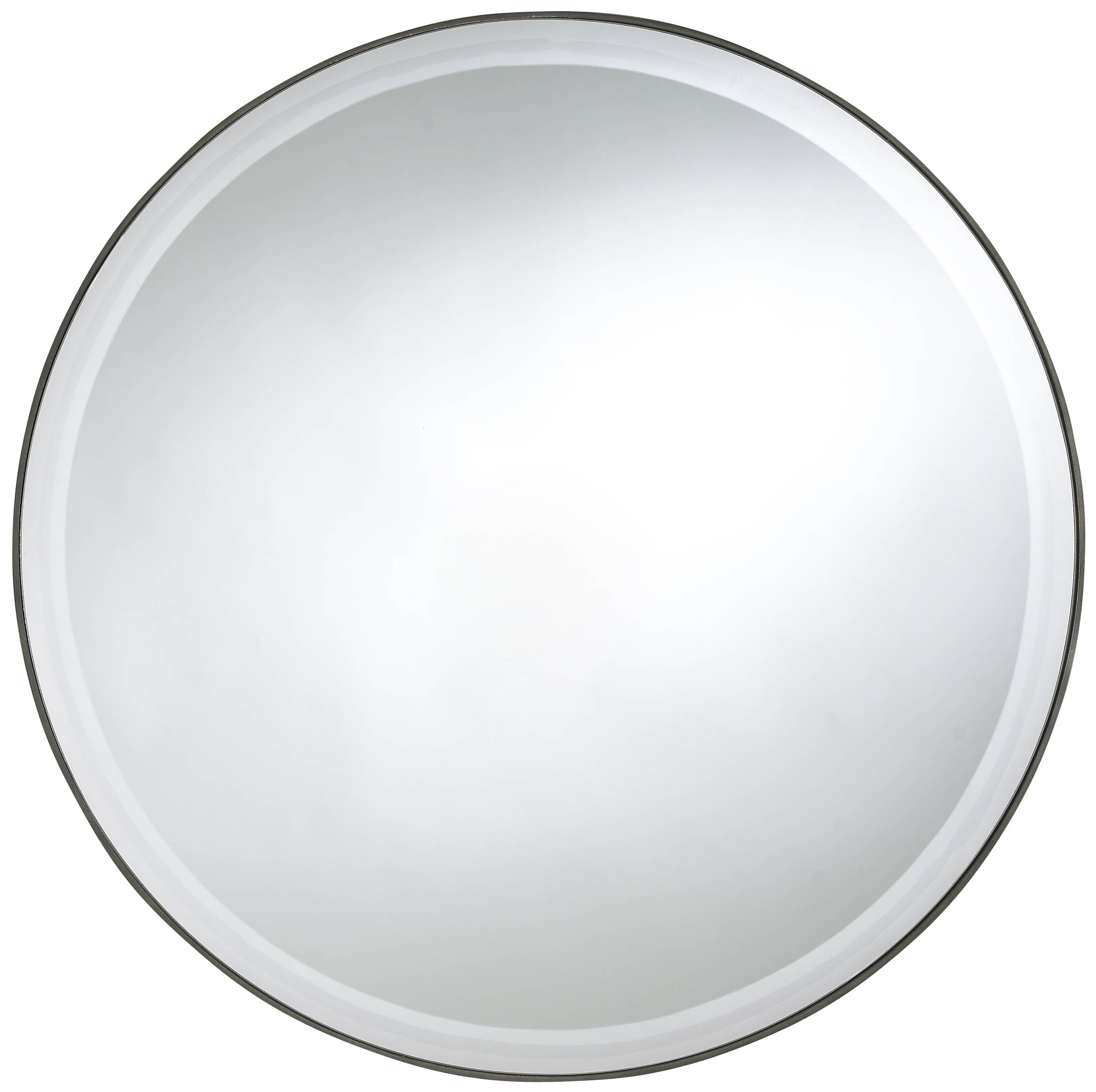 Round Mirror With Silver Steel Frame Of Great Ideas Of Large Round Regarding Large Round Black Mirrors (View 9 of 15)