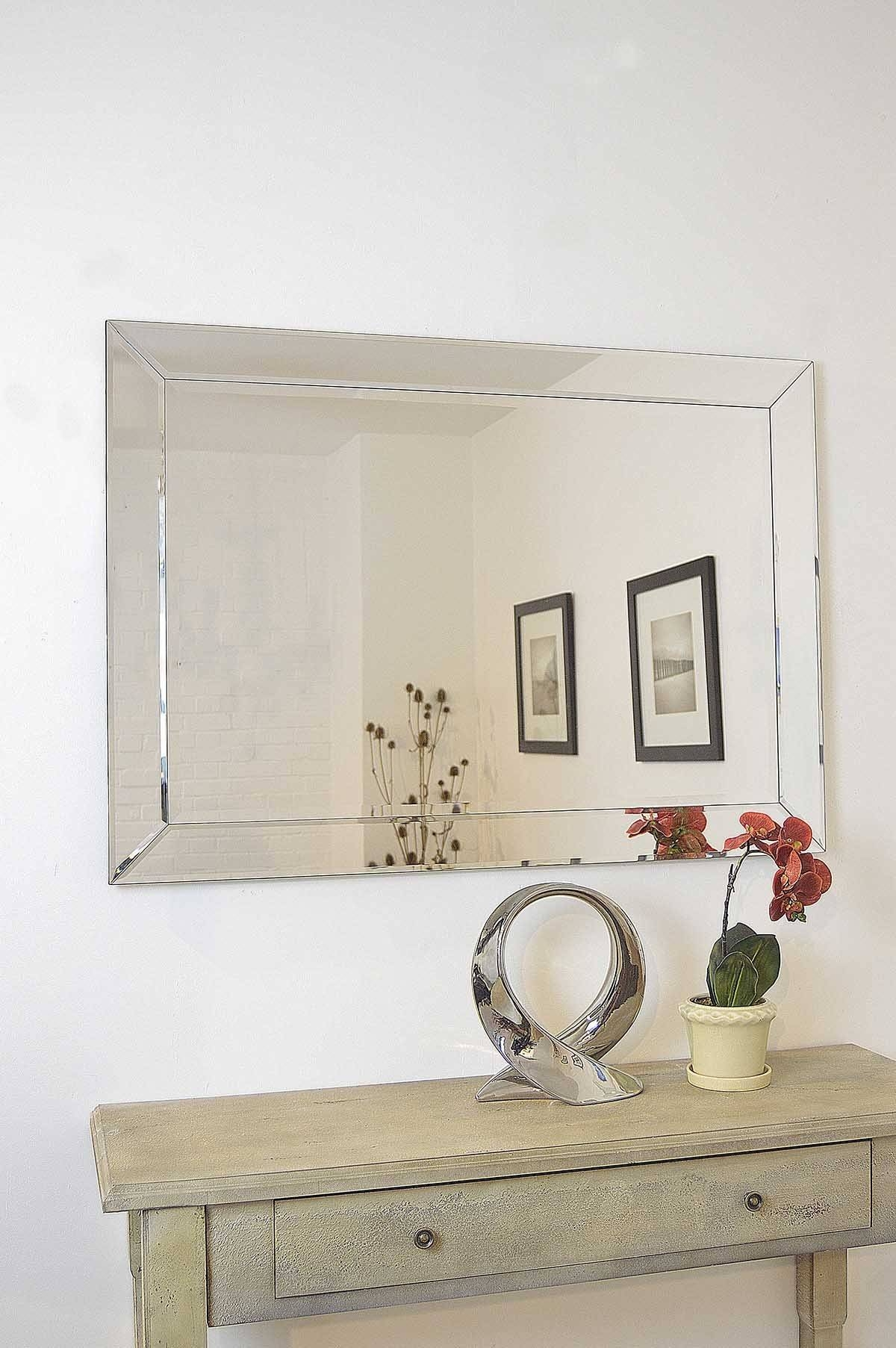 Round Mirrors Wayfair Braided Chain Wall Mirror ~ Loversiq within Big Modern Mirrors (Image 14 of 15)
