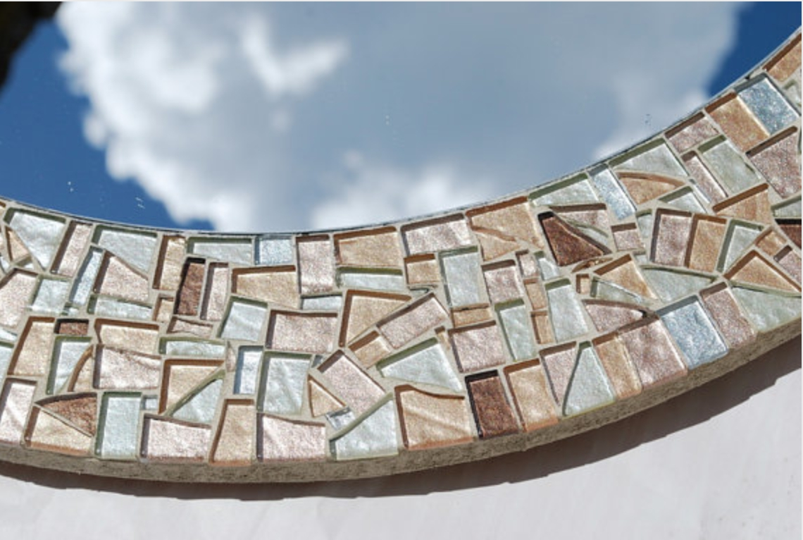 Round Mosaic Mirror, Gold Silver Bronze - : for Bronze Mosaic Mirrors (Image 15 of 15)
