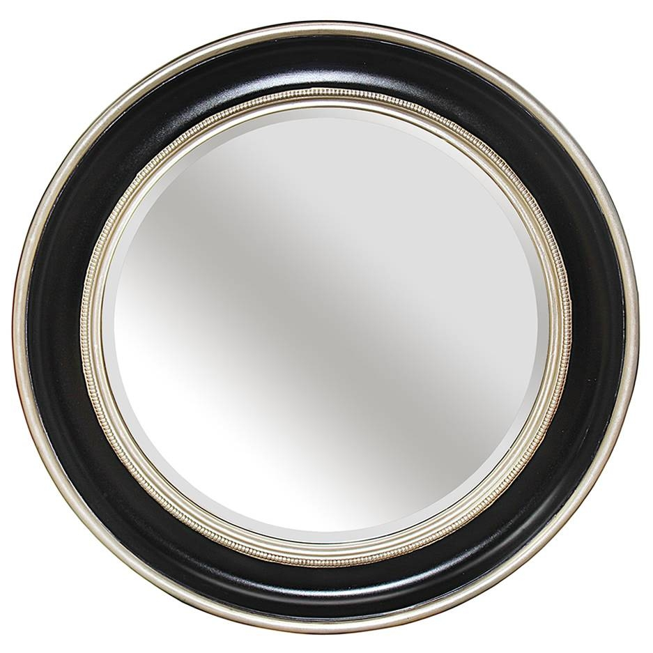 Round Silver Black Bevelled Mirror – Mirrors.ie regarding Round Silver Mirrors (Image 9 of 15)
