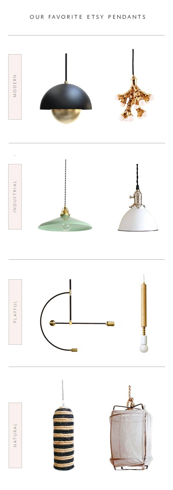 Roundup  Our Favorite Etsy Lighting Shops - Coco Kelley Coco Kelley pertaining to Etsy  sc 1 st  MenterArchitects.com & 15 Inspirations of Etsy Lighting Pendants azcodes.com