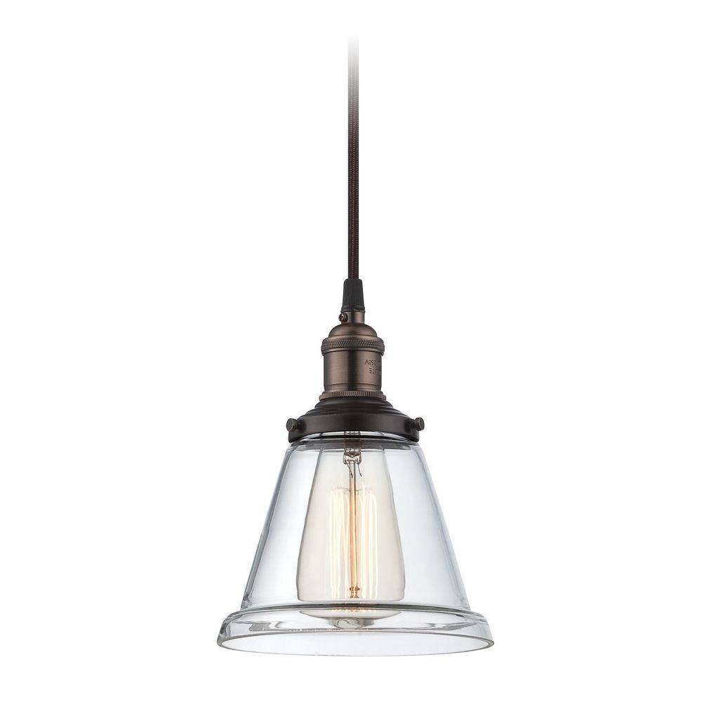 Rustic Bronze Vintage Mini Pendant Light With Clear Glass | 60 Within Rustic Clear Glass Pendant Lights (View 2 of 15)