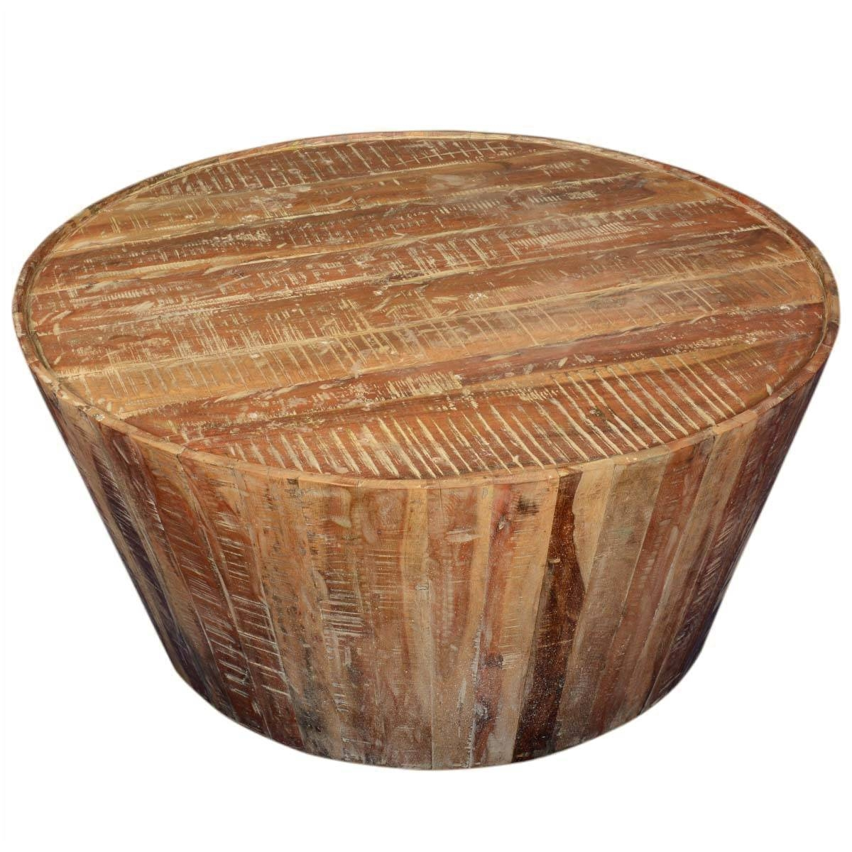Rustic Coffee Tables for Large Wood Coffee Tables (Image 13 of 15)