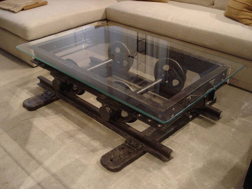 Rustic Industrial Coffee Table For Living Room : Rustic Industrial for Industrial Coffee Tables (Image 15 of 15)