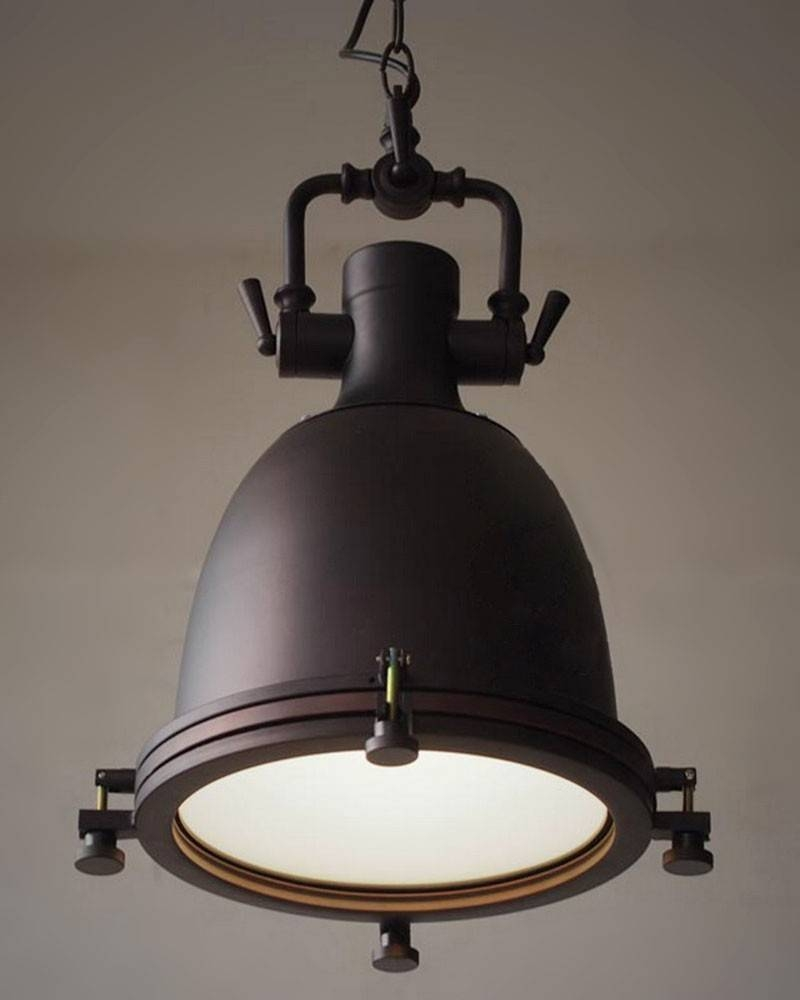 Rustic Industrial Style Large Vincent Pendant Light - Parrotuncle intended for Industrial Style Pendant Lights Fixtures (Image 13 of 15)