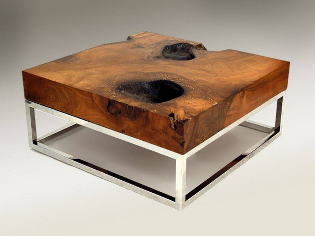 Rustic Living Room Wood Coffee Tables Wood With Natural Designs within Natural Wood Coffee Tables (Image 13 of 15)