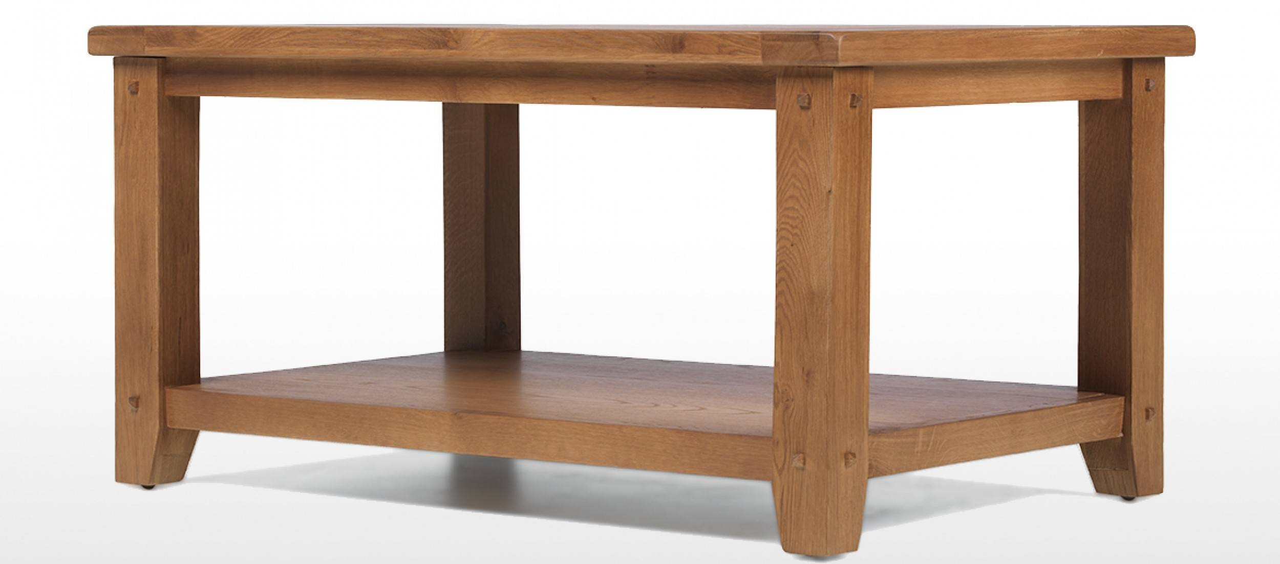 Rustic Oak Open Coffee Table | Quercus Living pertaining to Large Oak Coffee Tables (Image 12 of 15)