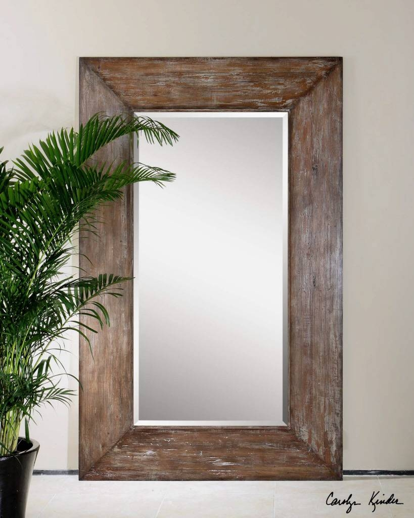 Rustic Wood Framed Mirrors 25 Fascinating Ideas On Vintage Wall regarding Vintage Large Mirrors (Image 11 of 15)