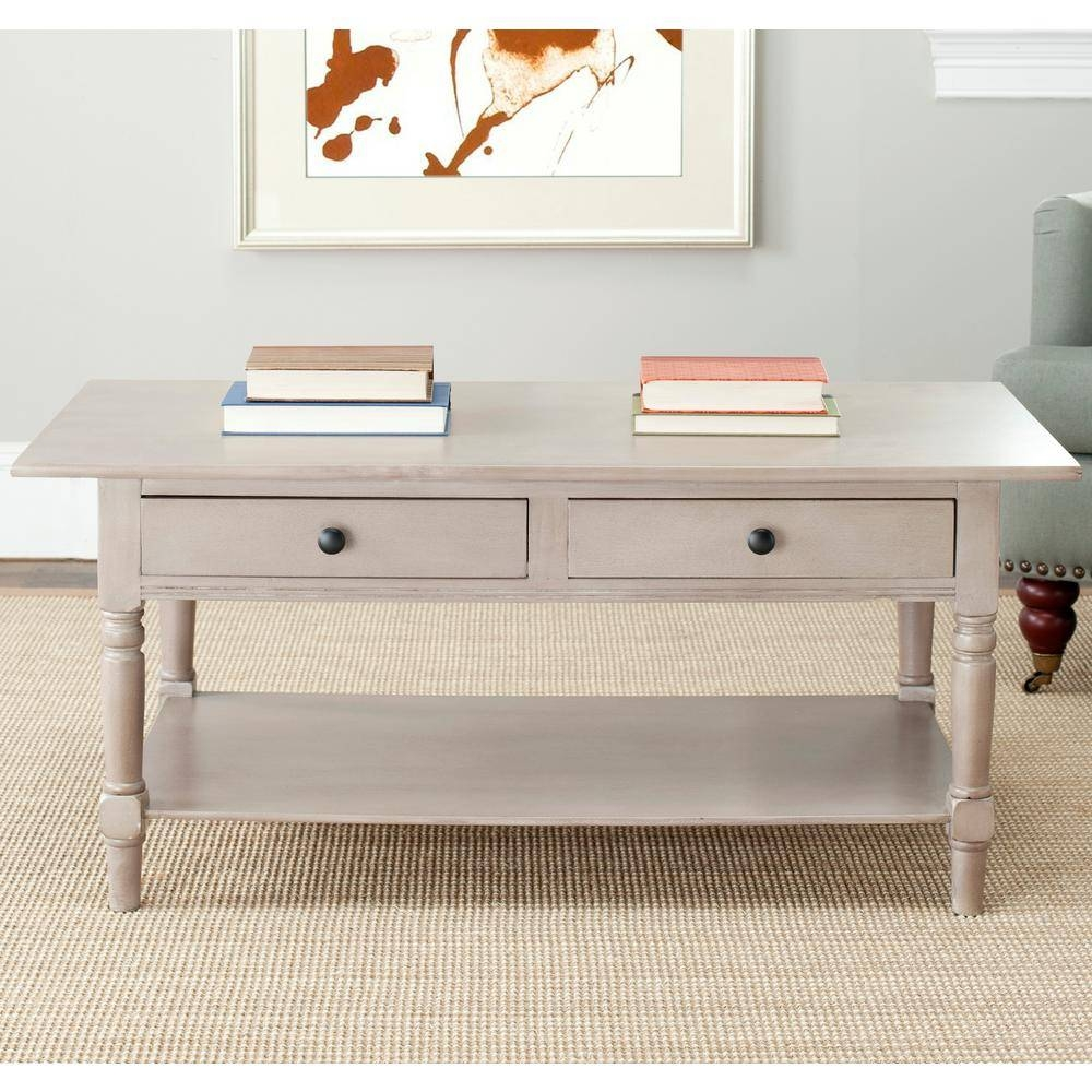 Safavieh Boris Light Oak Stain Storage Coffee Table-Amh5706A - The regarding Light Oak Coffee Tables (Image 11 of 15)