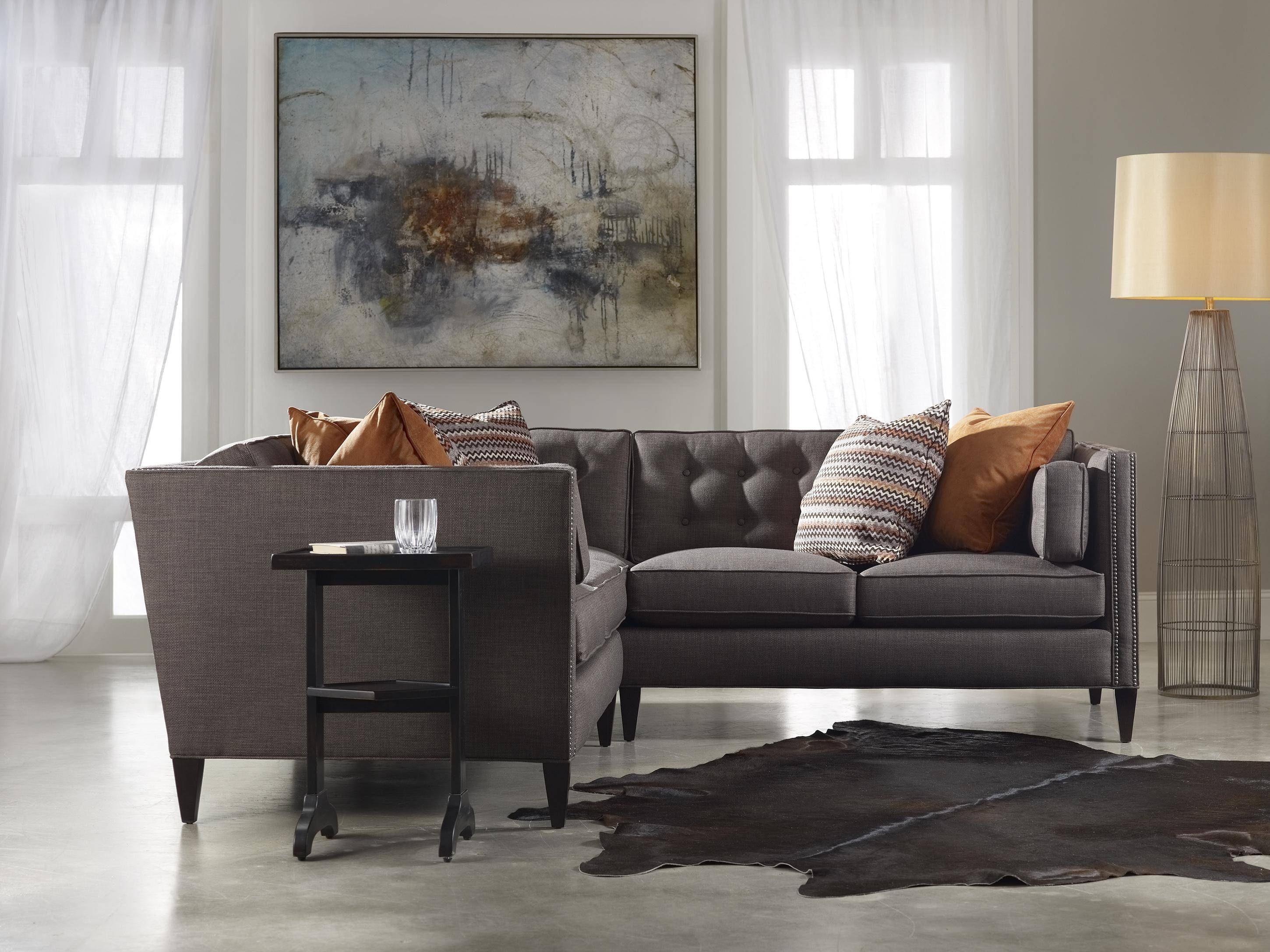Sam Moore Eaton Contemporary Two Over Two Sofa With Nailhead Trim Intended For Sam Moore Sofas (View 9 of 15)