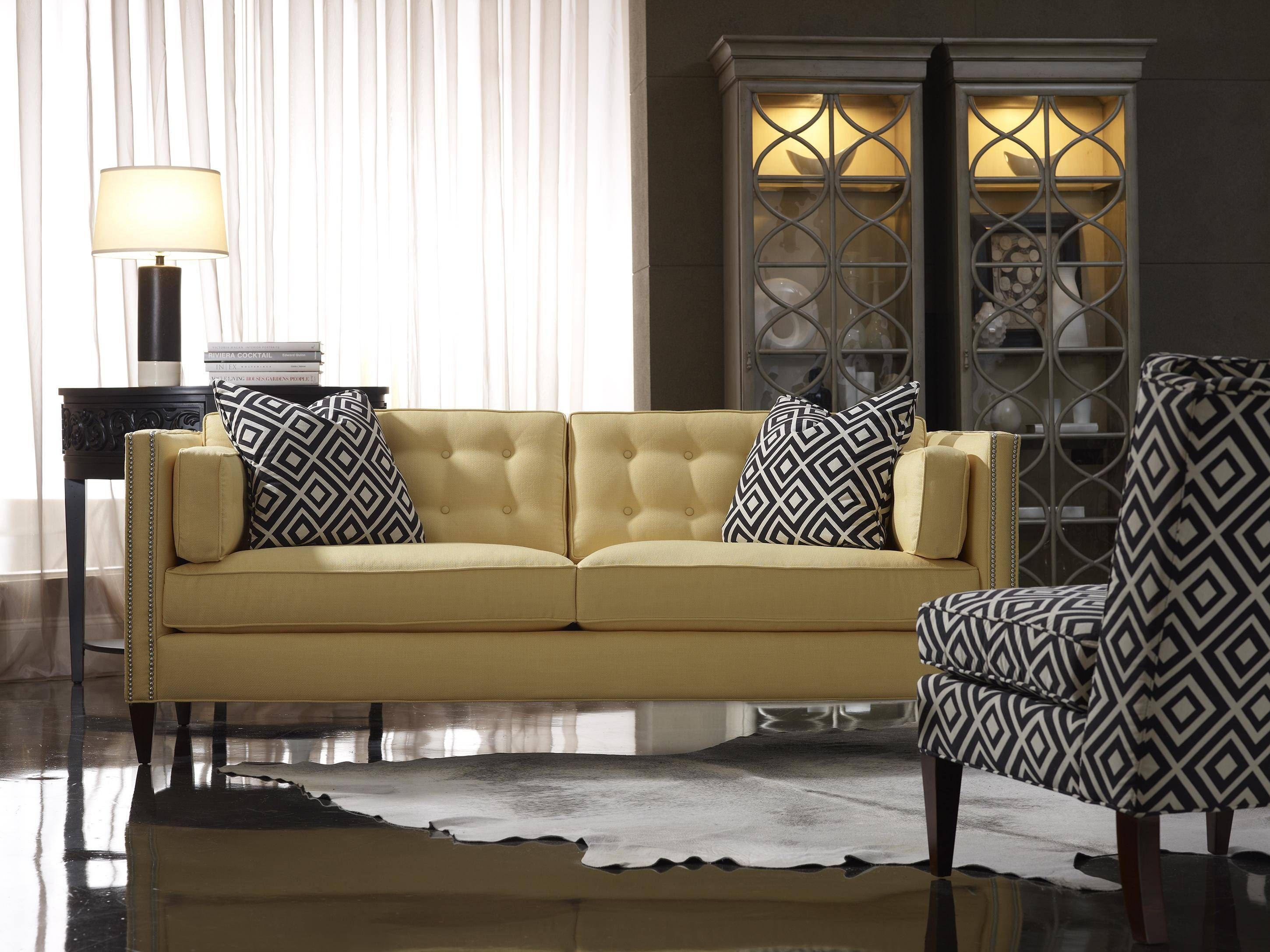 Sam Moore Eaton Contemporary Two Over Two Sofa With Nailhead Trim Pertaining To Sam Moore Sofas (View 7 of 15)
