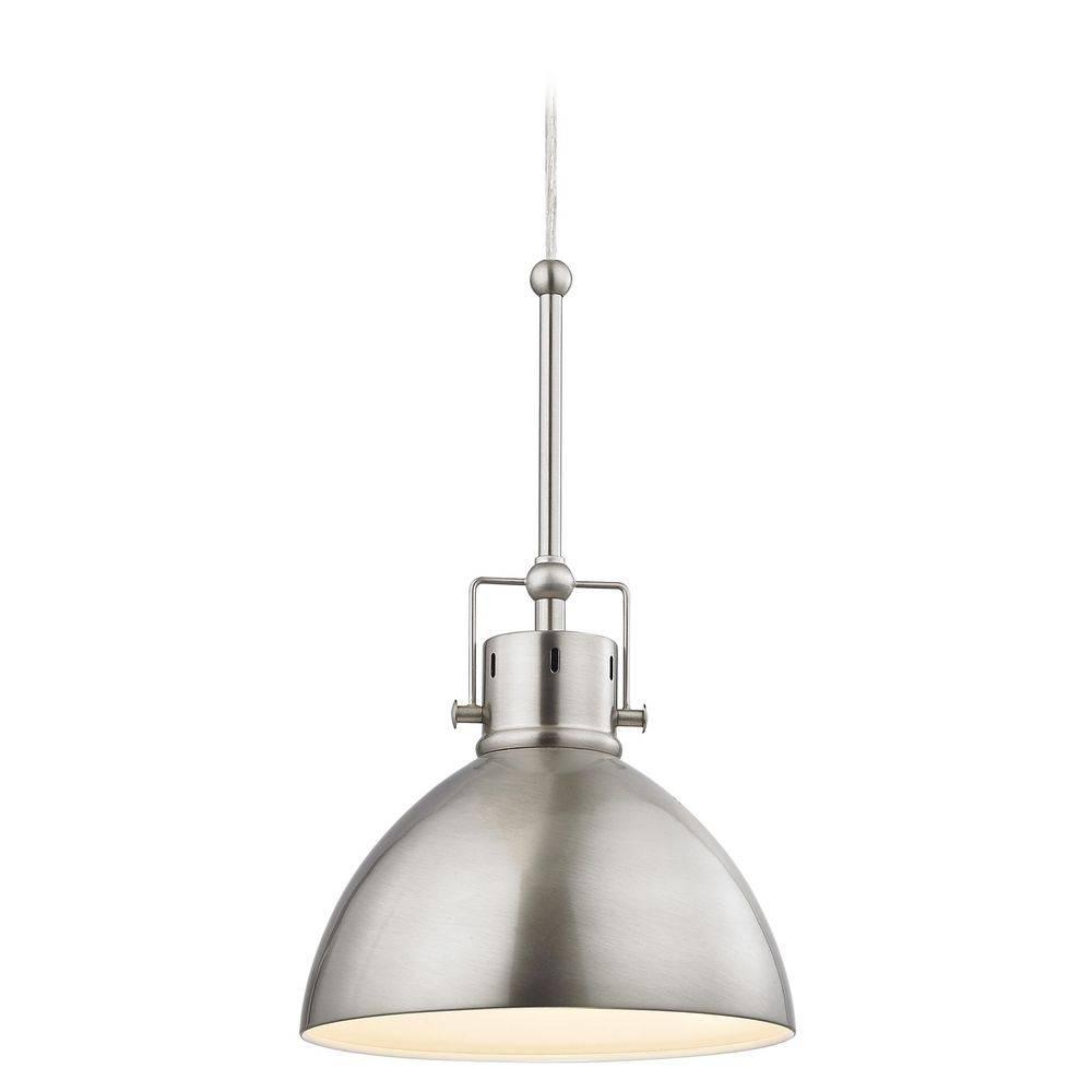 Satin Nickel Dome Metal Pendant Light | 2038-1-09 | Destination inside Satin Nickel Pendant Light Fixtures (Image 13 of 14)