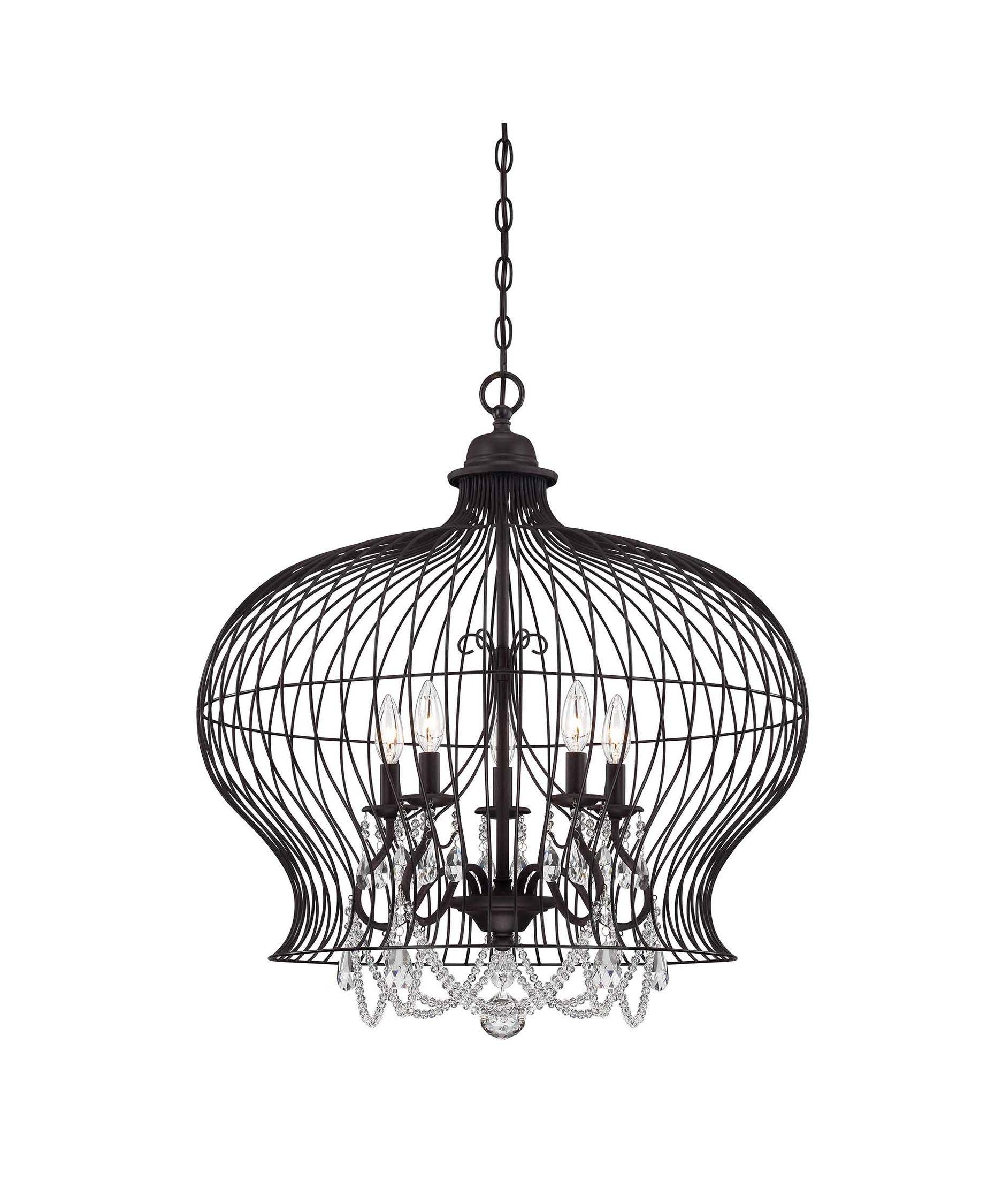 Savoy House 7 6100 6 Birdcage 30 Inch Wide 6 Light Large Pendant Within Birdcage Pendant Lights (View 9 of 15)
