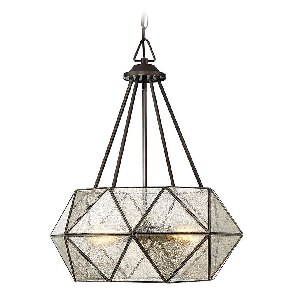 Savoy House Lighting Tartan Oiled Burnished Bronze Pendant Light in Octagon Pendant Lights (Image 13 of 15)