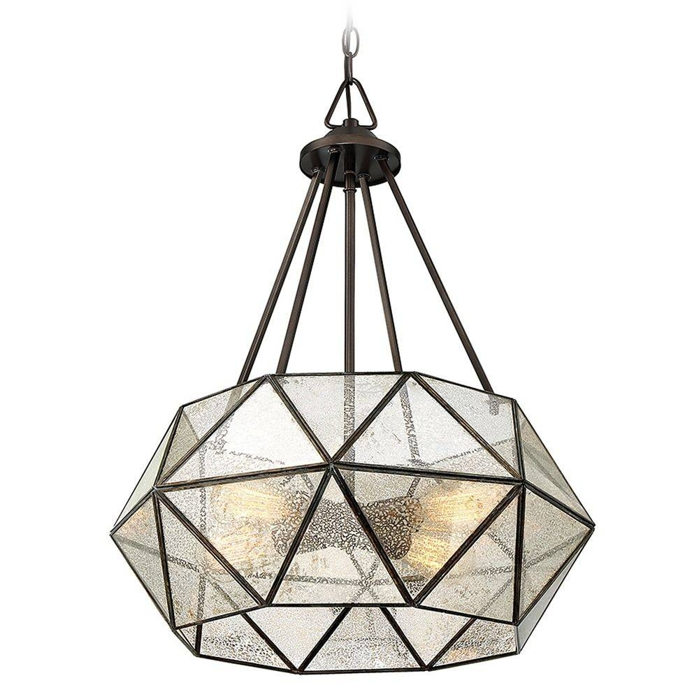 Savoy House Lighting Tartan Oiled Burnished Bronze Pendant Light intended for Octagon Pendant Lights (Image 14 of 15)