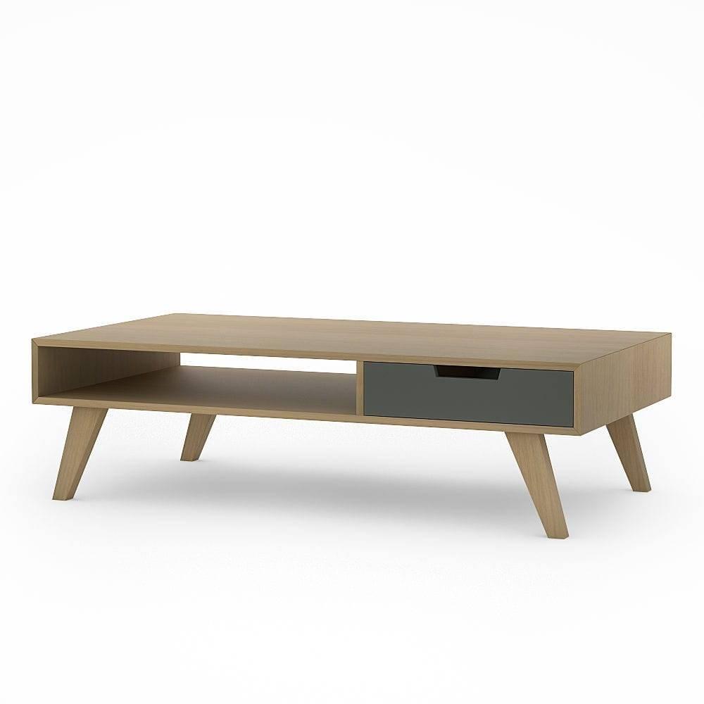 Scandinavian Design Coffee Table / Oak / Solid Wood / Wood Veneer in Retro Oak Coffee Table (Image 14 of 15)