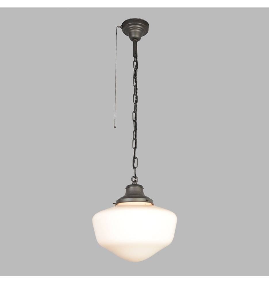 Schoolhouse Pendant Light regarding Schoolhouse Pendant Lights Fixtures (Image 10 of 15)