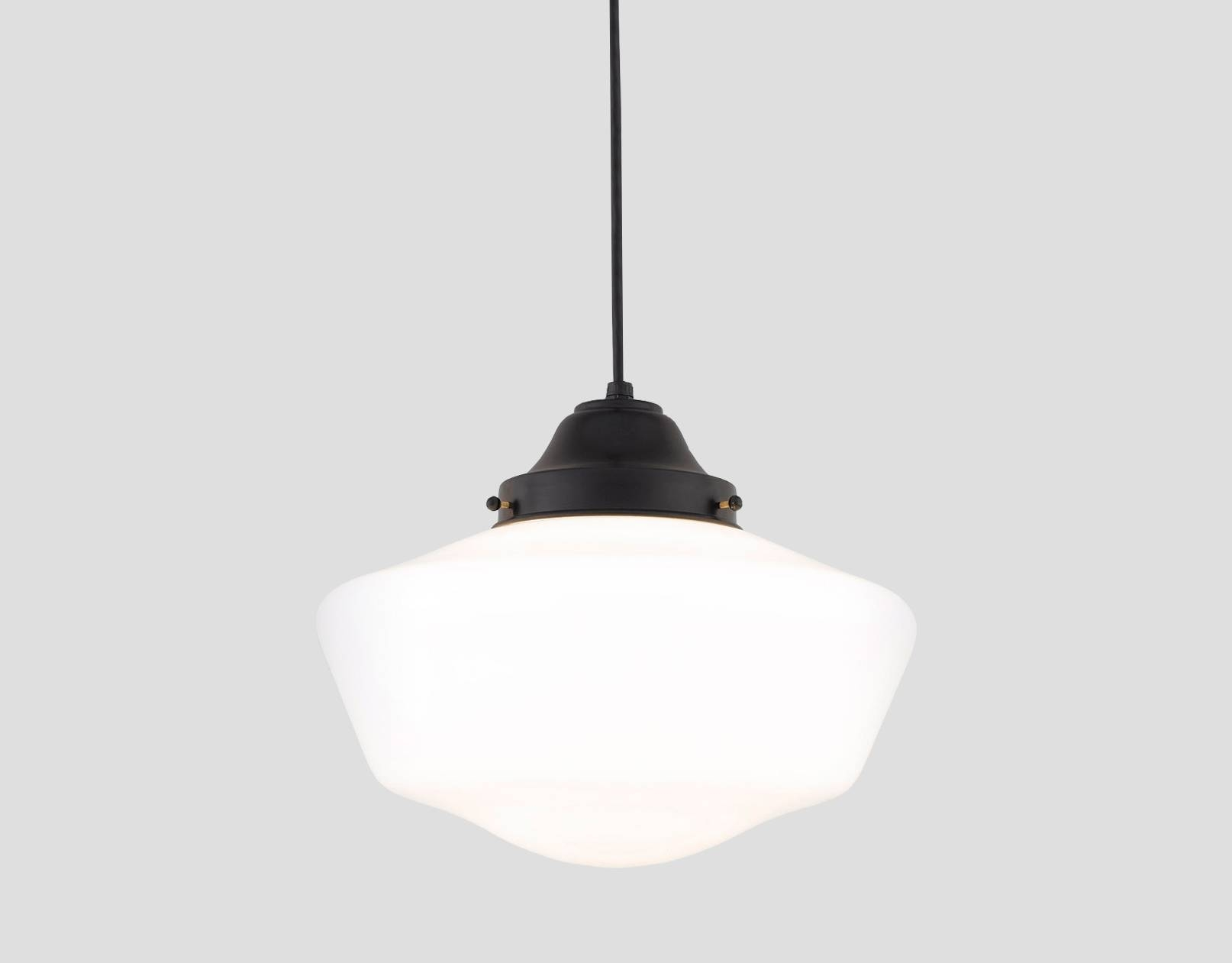Schoolhouse Pendant Lighting | Old School Shades with Schoolhouse Pendant Lights Canada (Image 12 of 15)