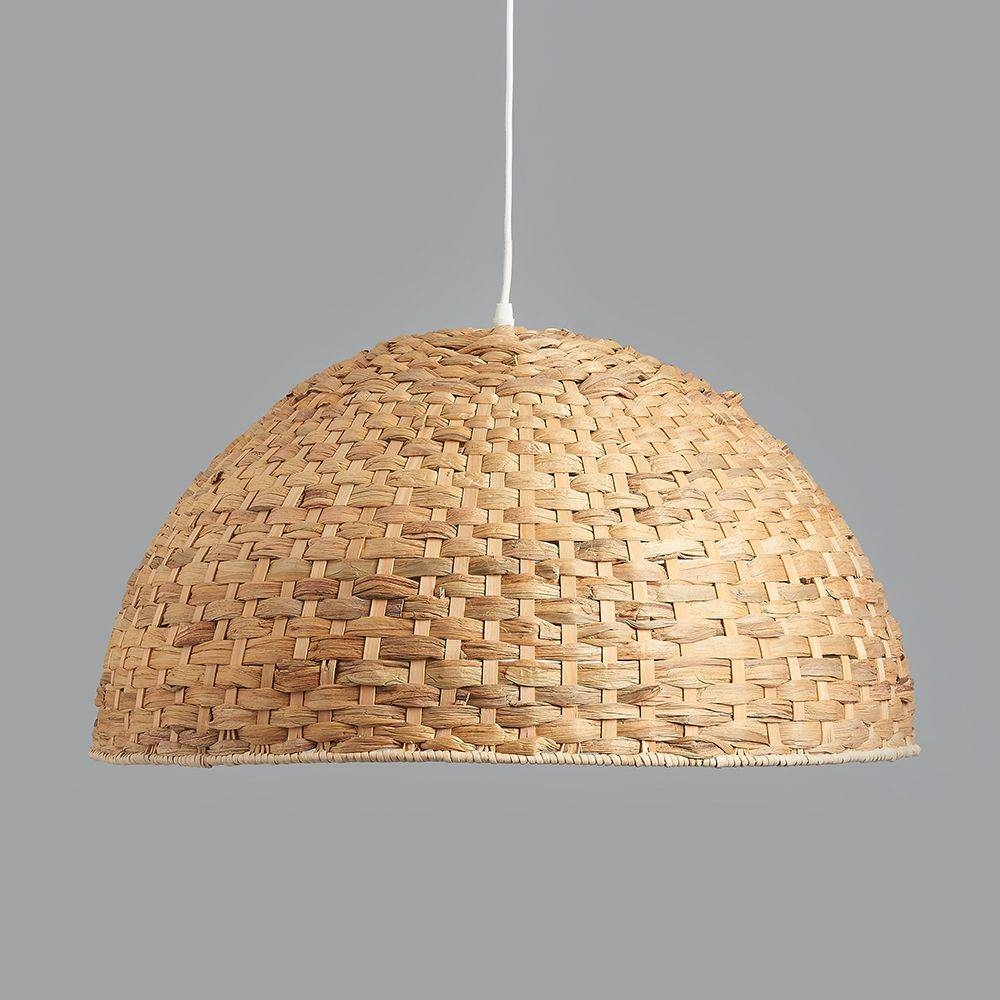 Seagrass Dome Pendant Light in Large Dome Pendant Lights (Image 12 of 15)