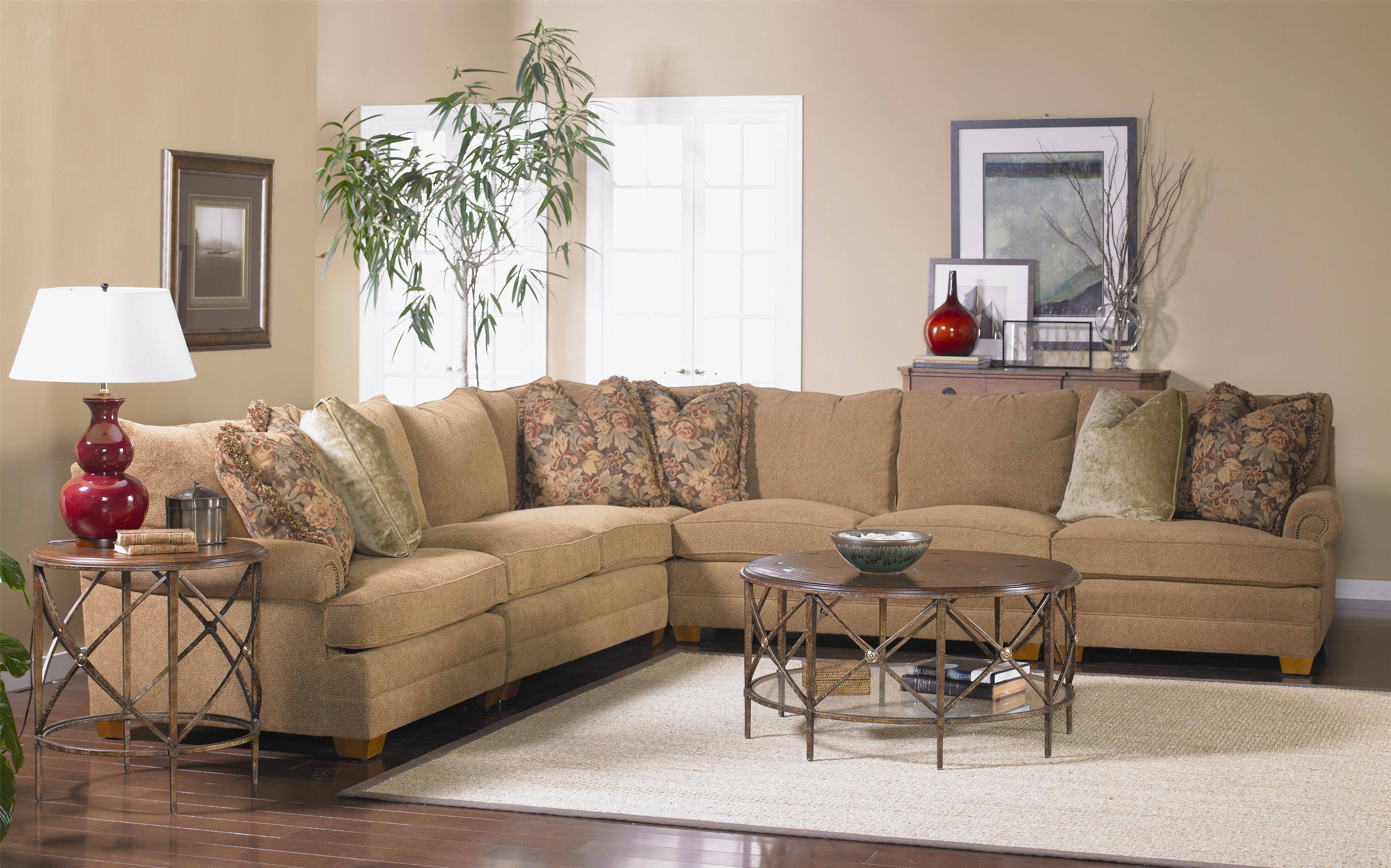 Sectional Sofa With Low Rolled Armssam Moore | Wolf And In Sam Moore Sofas (View 2 of 15)