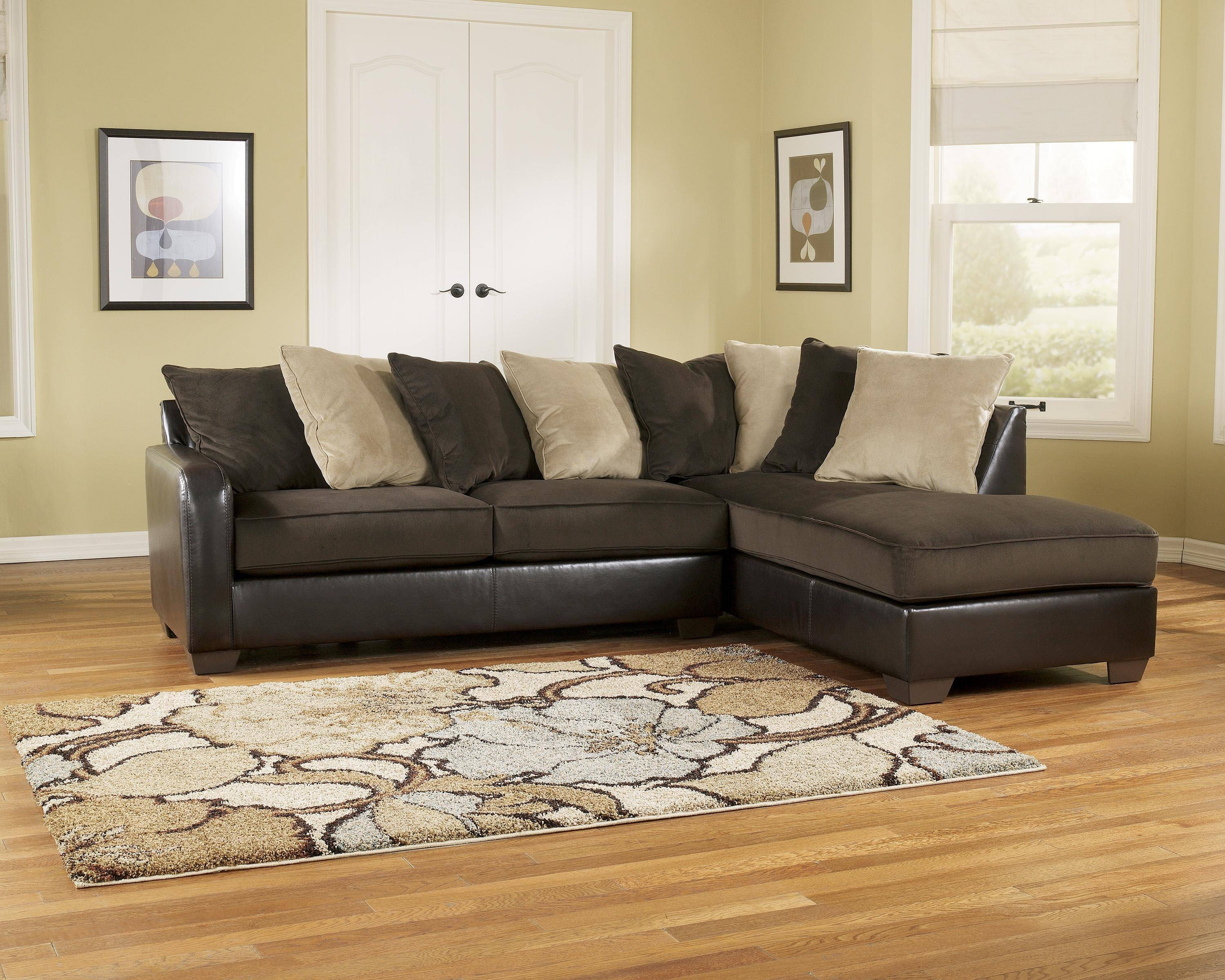 design furniture gray durablend right sectional w item leather products ashley chaise by signature alliston