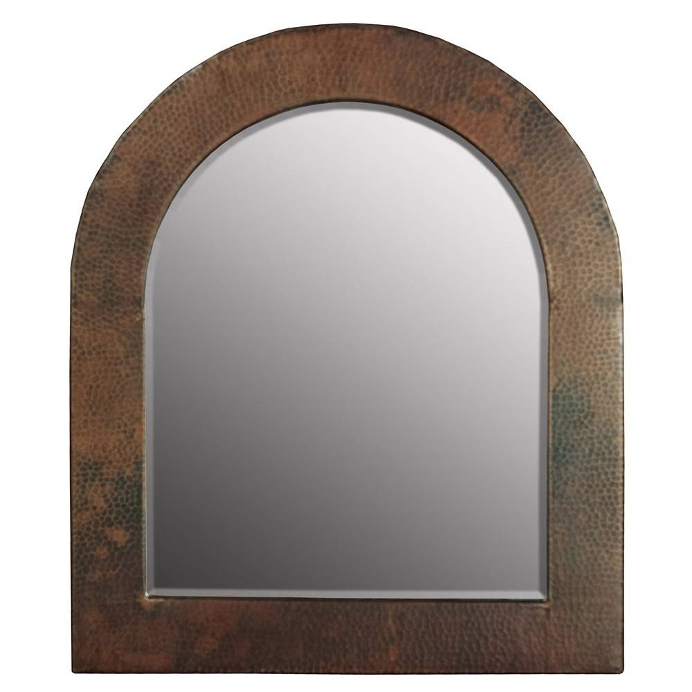 Sedona Arched Copper Framed Wall Mirror | Native Trails Intended For Arched Bathroom Mirrors (View 10 of 15)