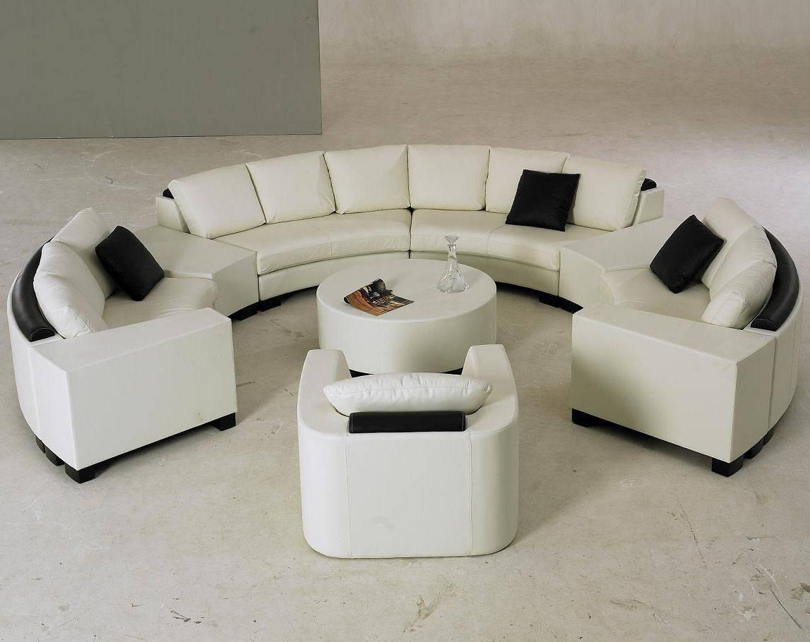 Popular Photo of Semi Round Sectional Sofas
