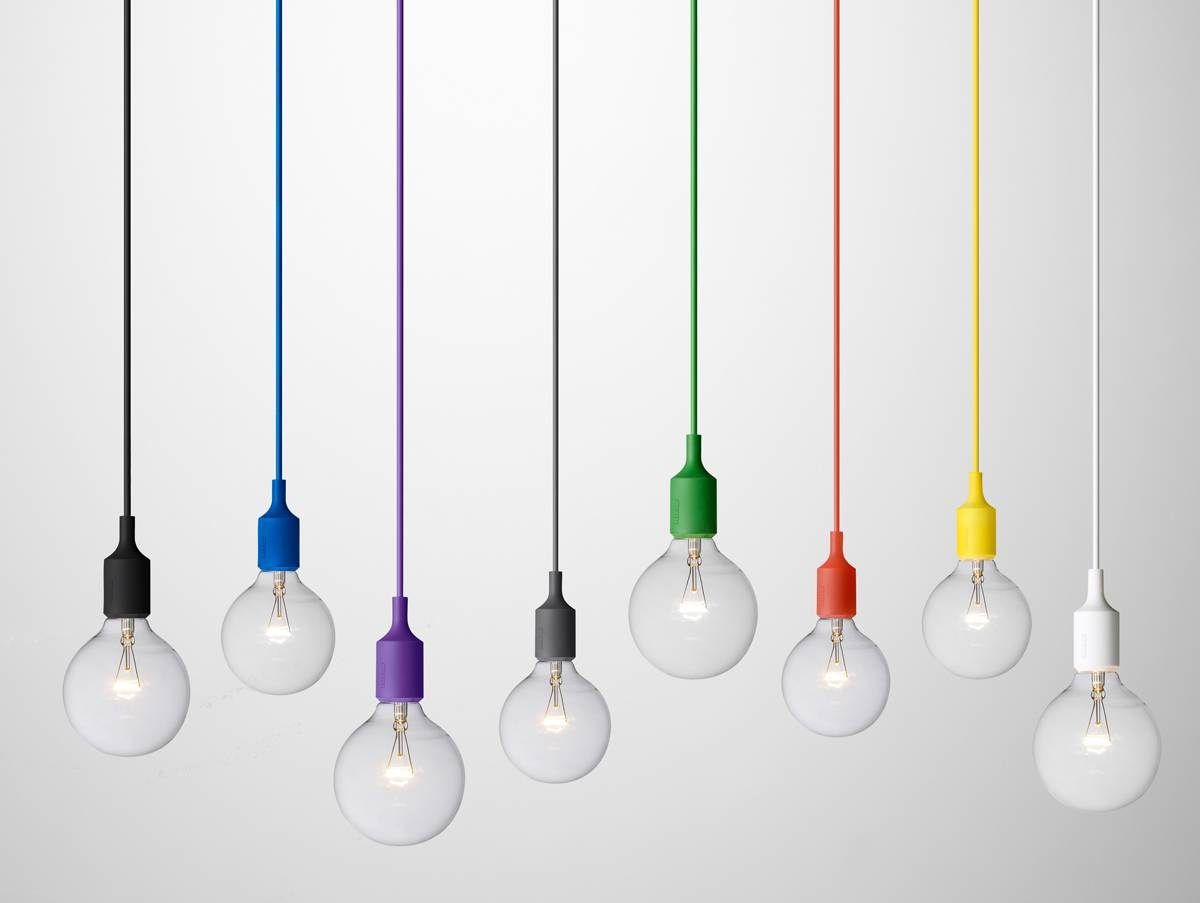 Popular Photo of Coloured Cord Pendant Lights