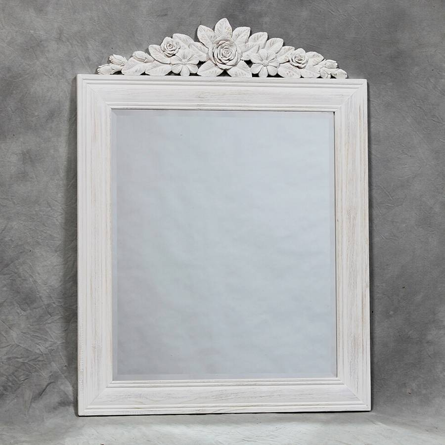 Shabby Chic Mirror With Shelf - White Distressed Shabby Chic inside Shabby Chic Mirrors With Shelf (Image 12 of 15)