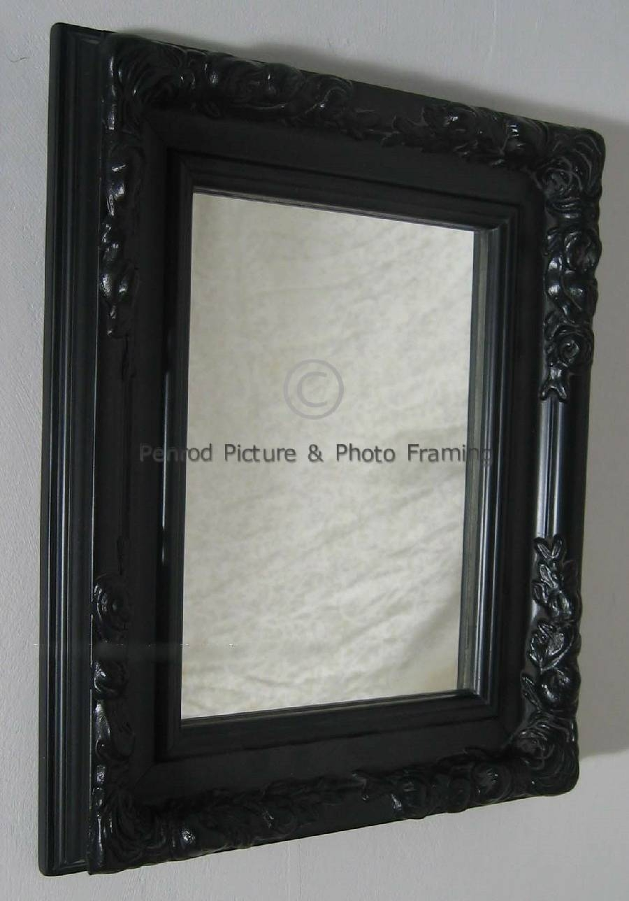 Shabby with Ornate Black Mirrors (Image 11 of 15)