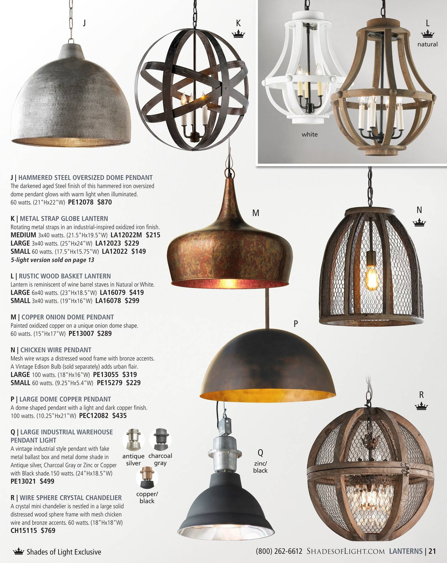 Shades Of Light - Farmhouse Classics 2017 - Page 20-21 with Large Dome  Pendant
