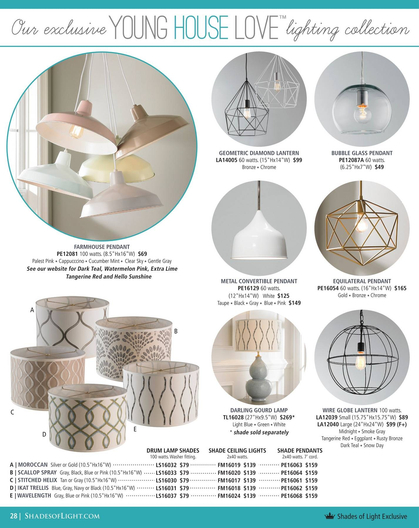 Shades Of Light - Global Market 2017 - Page 28-29 within Young House Love Pendant Lights (Image 13 of 15)