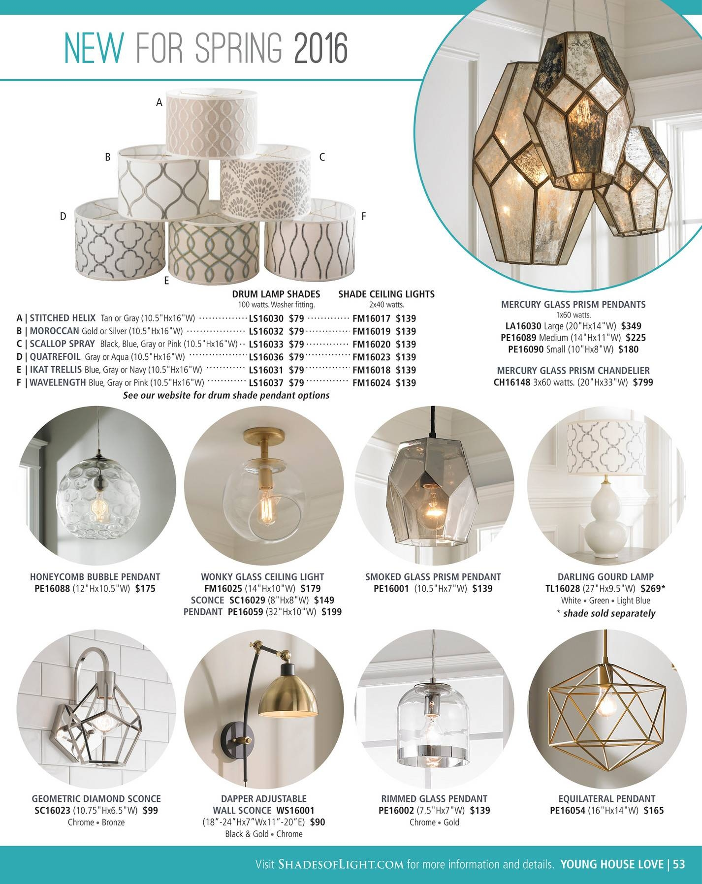 Shades Of Light - Urban Renewal 2016 - Page 52-53 intended for Young House Love Pendant Lights (Image 14 of 15)