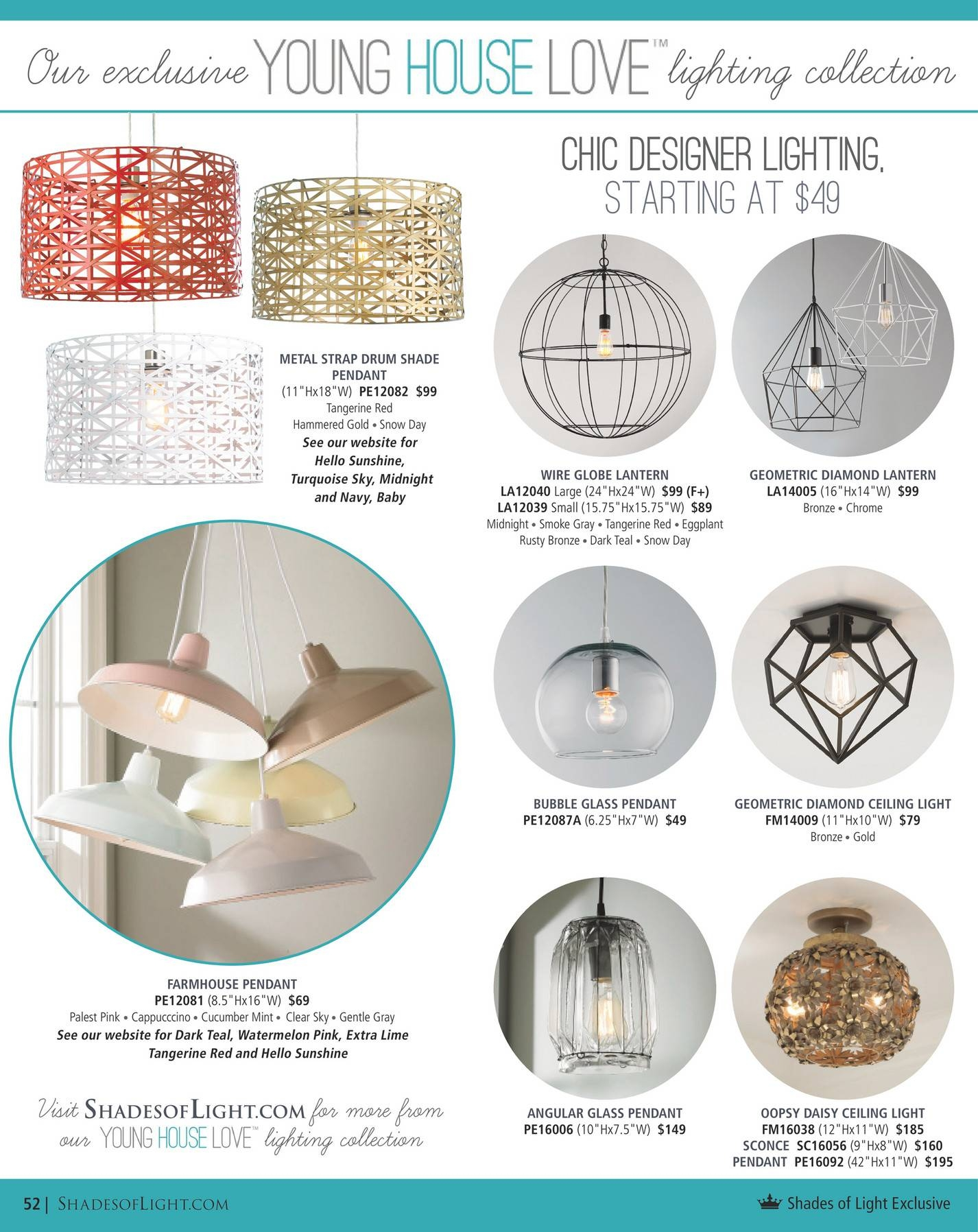 Shades Of Light - Urban Renewal 2016 - Page 52-53 throughout Young House Love Pendant Lights (Image 15 of 15)