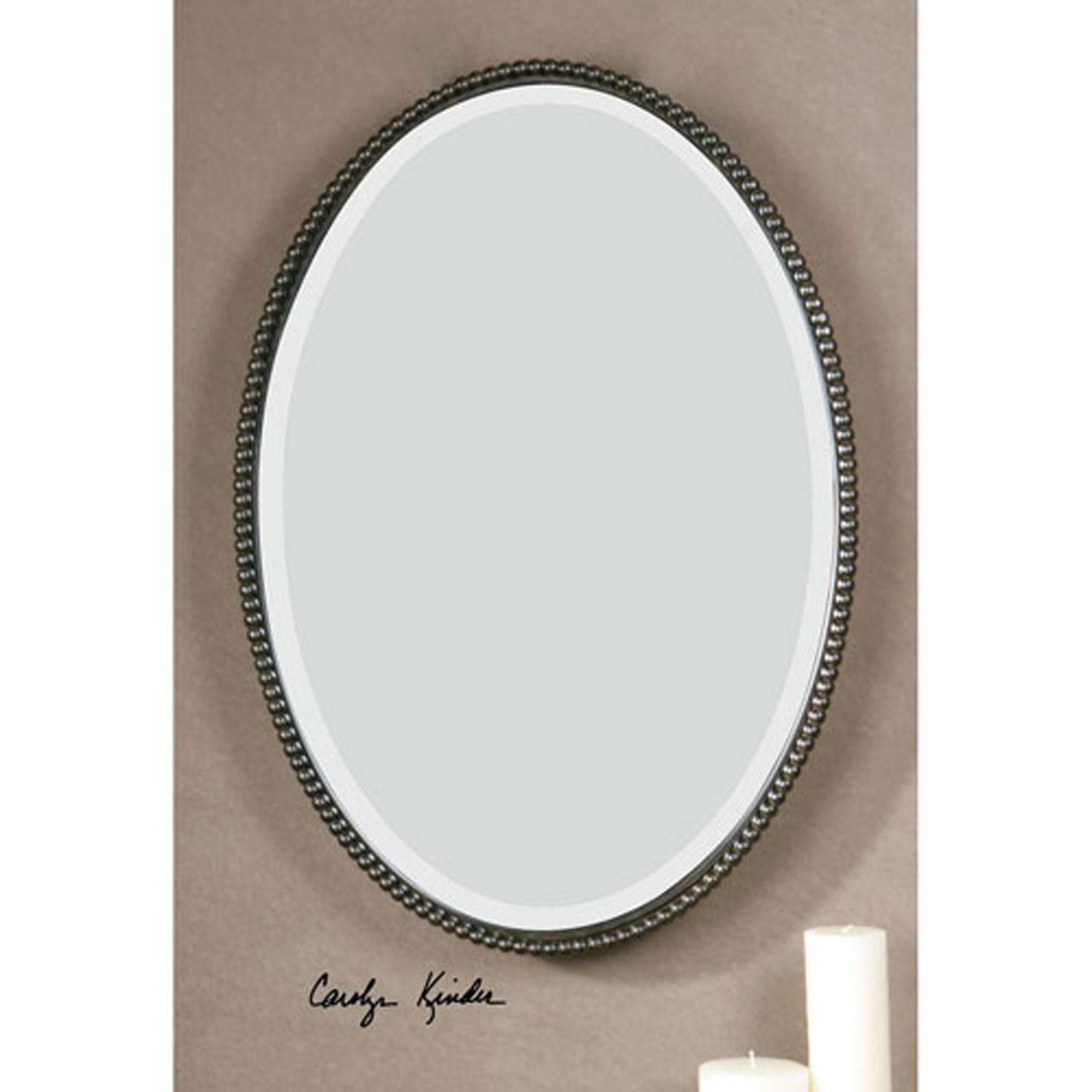 Sherise Oval Mirror Uttermost Wall Mirror Mirrors Home Decor with regard to French Oval Mirrors (Image 13 of 15)