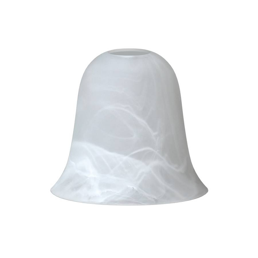 Shop 5.43-In H 6.02-In W Frosted Alabaster Glass Bell Pendant in Alabaster Pendants (Image 15 of 15)