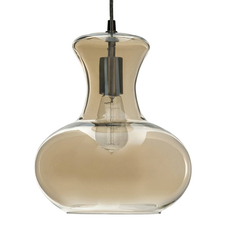 Shop Allen + Roth 10.31-In Aged Bronze Vintage Single Tinted Glass with Allen And Roth Pendant Lights (Image 6 of 15)