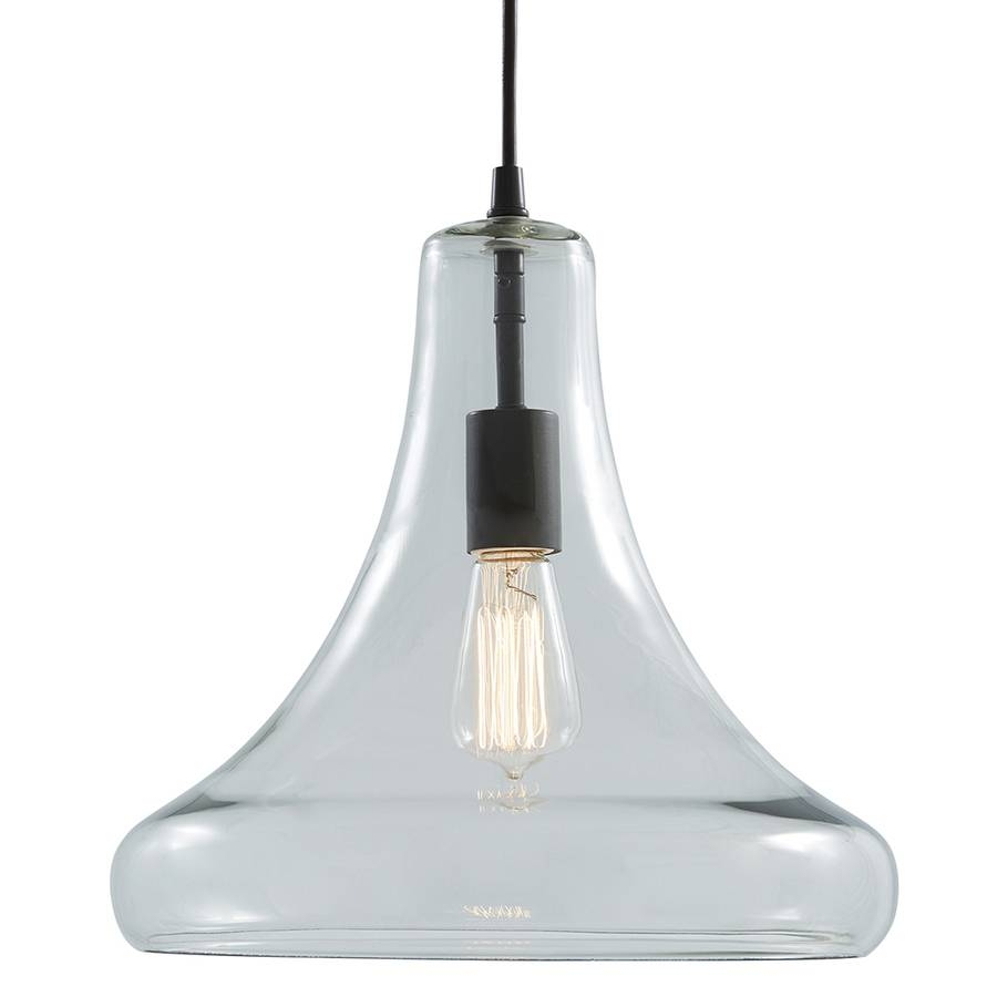 Shop Allen + Roth 12.99-In Aged Bronze Vintage Single Clear Glass for Allen Roth Pendants (Image 2 of 15)
