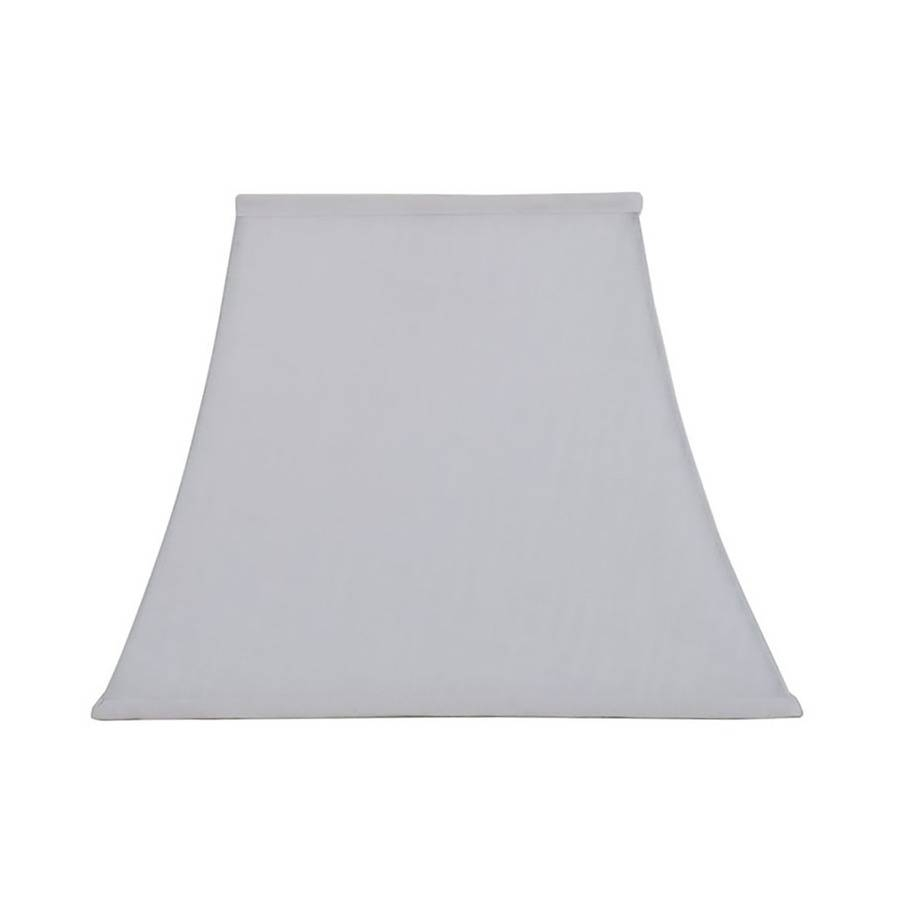 Shop Allen + Roth 12-In X 15-In White Linen Fabric Square Lamp regarding Allen and Roth Shades (Image 1 of 15)