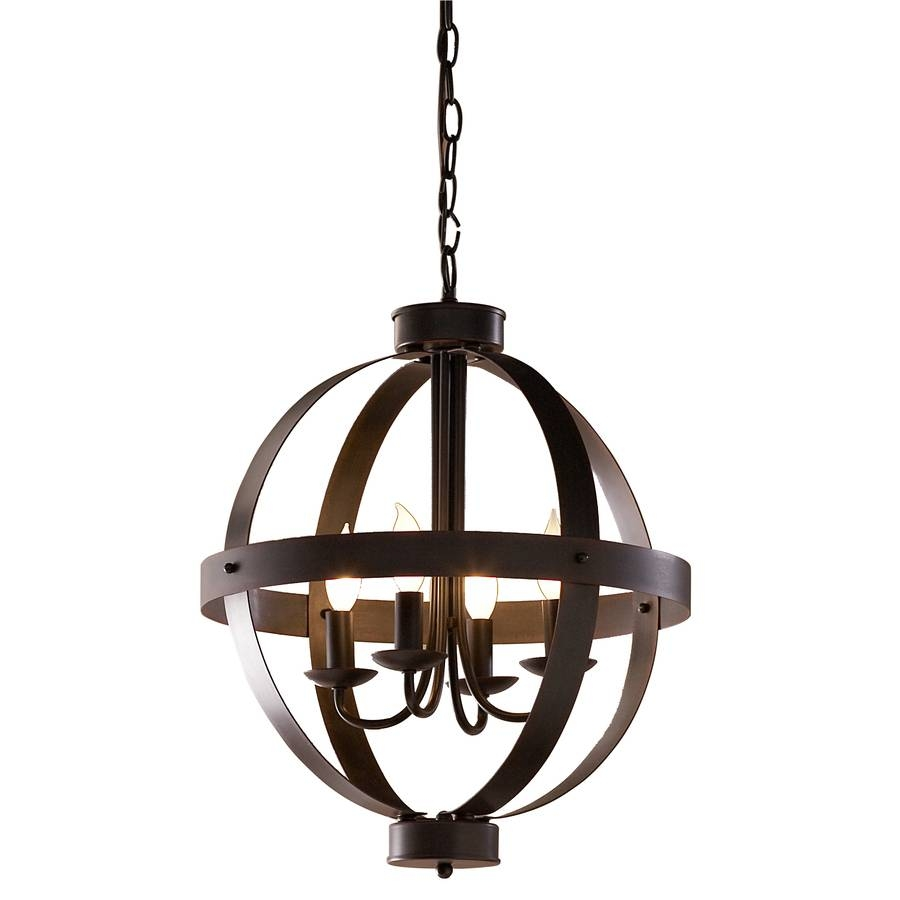 Shop Allen + Roth 18-In Antique Rustic Bronze Rustic Single regarding Allen Roth Lights Fixtures (Image 3 of 15)