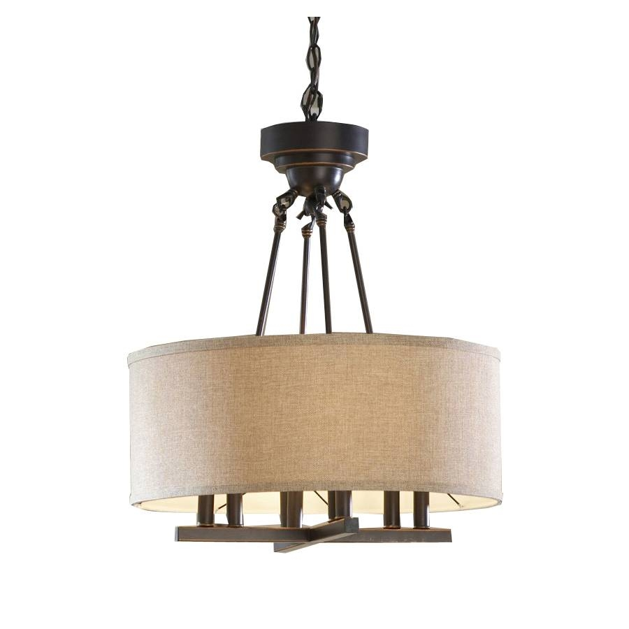 shop allen roth 20in oilrubbed bronze rustic single pendant at inside