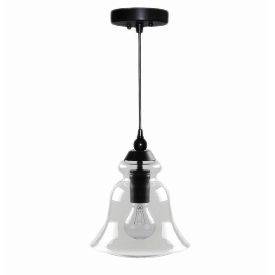 Shop Allen + Roth 8-In Bronze Mini Clear Glass Pendant At Lowes for Allen Roth Pendant Lights (Image 4 of 15)