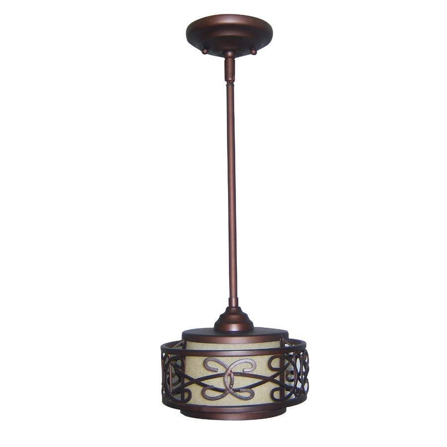 Shop Allen + Roth 8-In French Bronze Mini Tinted Glass Cylinder with Allen And Roth Pendant Lighting (Image 6 of 15)