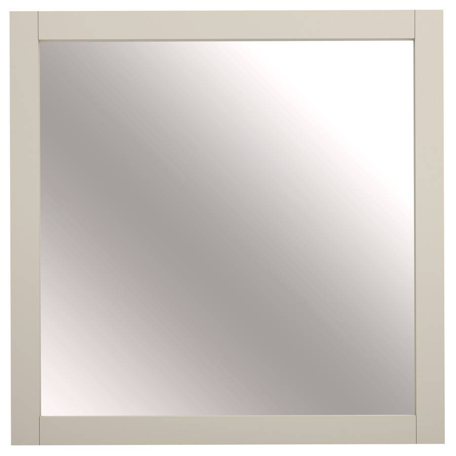 Shop Allen + Roth Brisette 30-In X 30-In Cream Square Framed within Cream Mirrors (Image 12 of 15)
