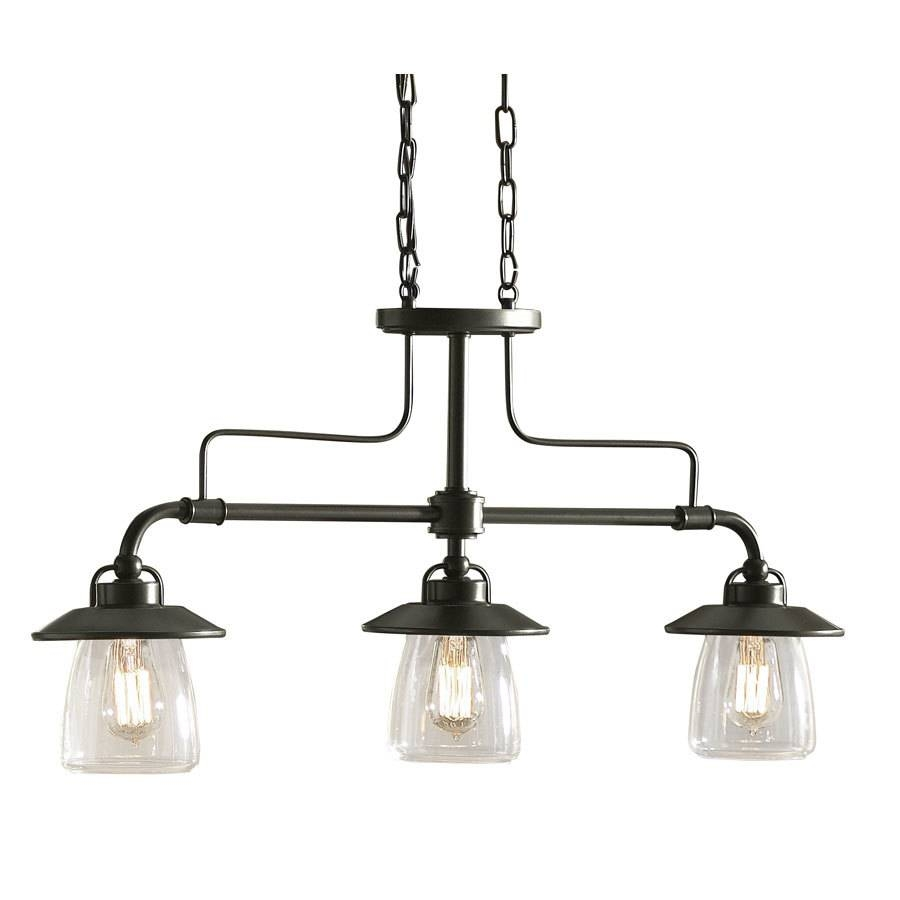 Shop Allen + Roth Bristow 36-In W 3-Light Mission Bronze Kitchen regarding Allen Roth Lights (Image 6 of 15)